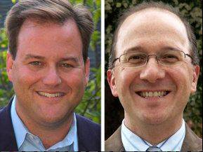 Matt Murphy, left, opposes David Page in the 27th Senate District