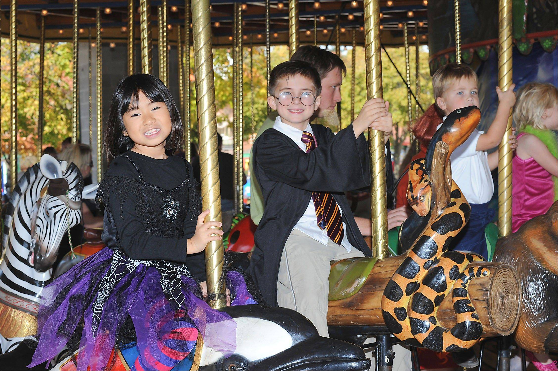 "The ""Haunted Carousel"" is one of the family activities at the annual ""Boo! at the Zoo"" event at Brookfield Zoo."