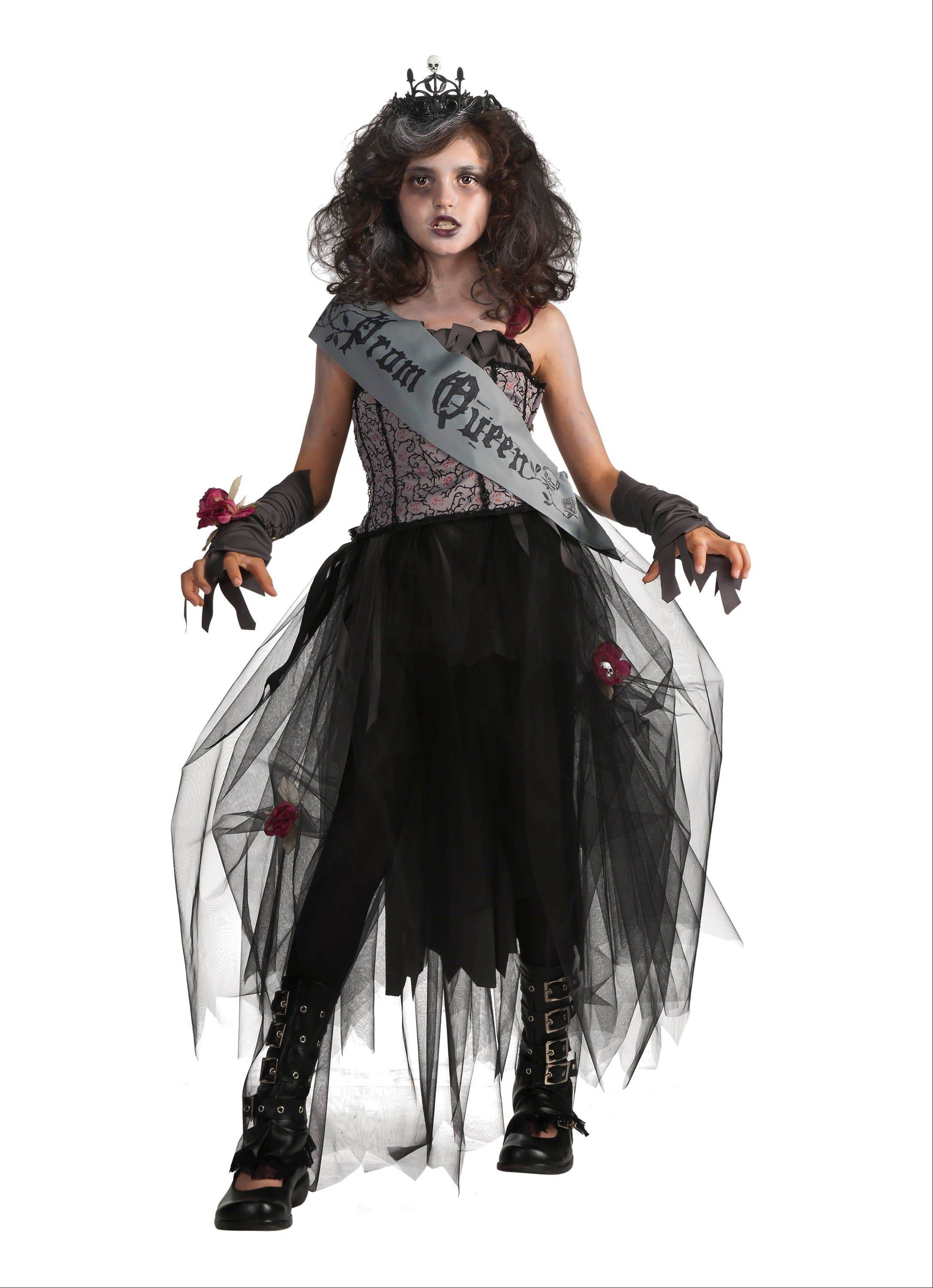 Catering to the zombie craze, Halloween costumes for young children are getting more gory -- like this zombie queen outfit.
