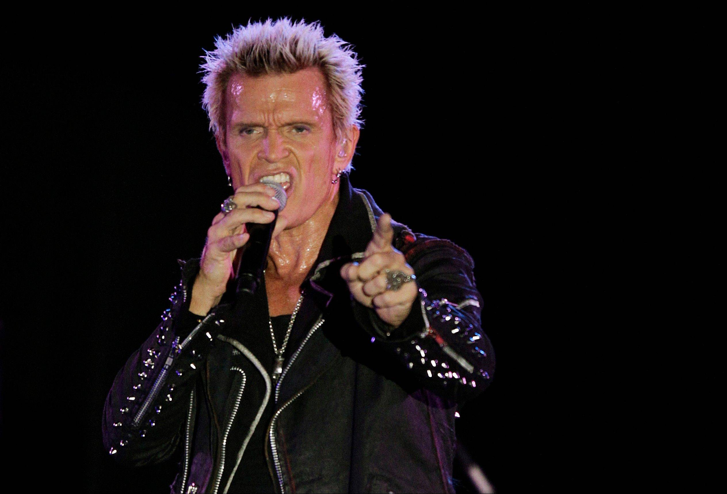 Associated Press Billy Idol performs Friday in Seattle.