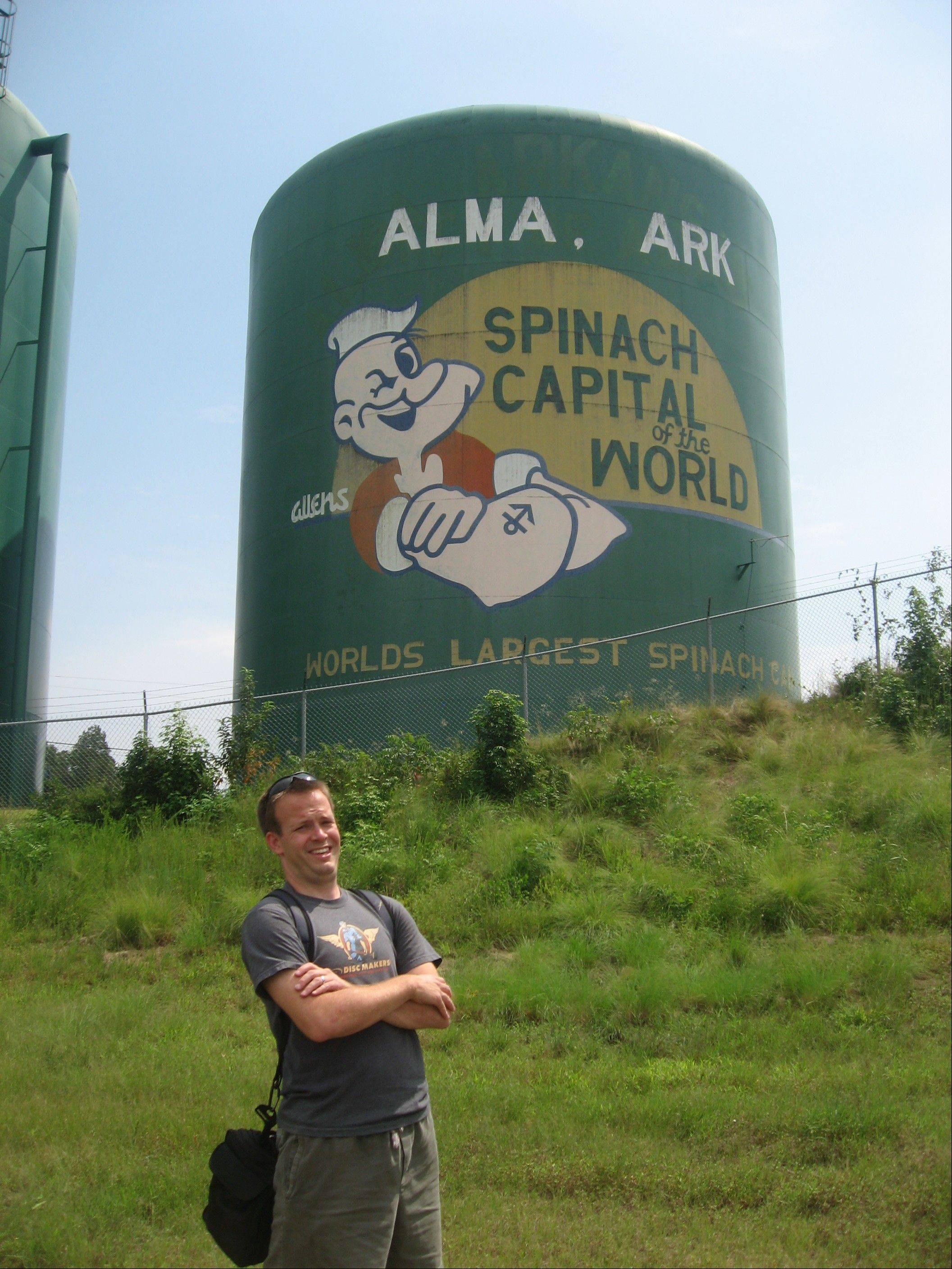 Luke Anderson stands in Alma, Ark., the 31st state he visited. Anderson, who has now visited a total of 39 states, is on a quest to play disc golf in all 50 states.
