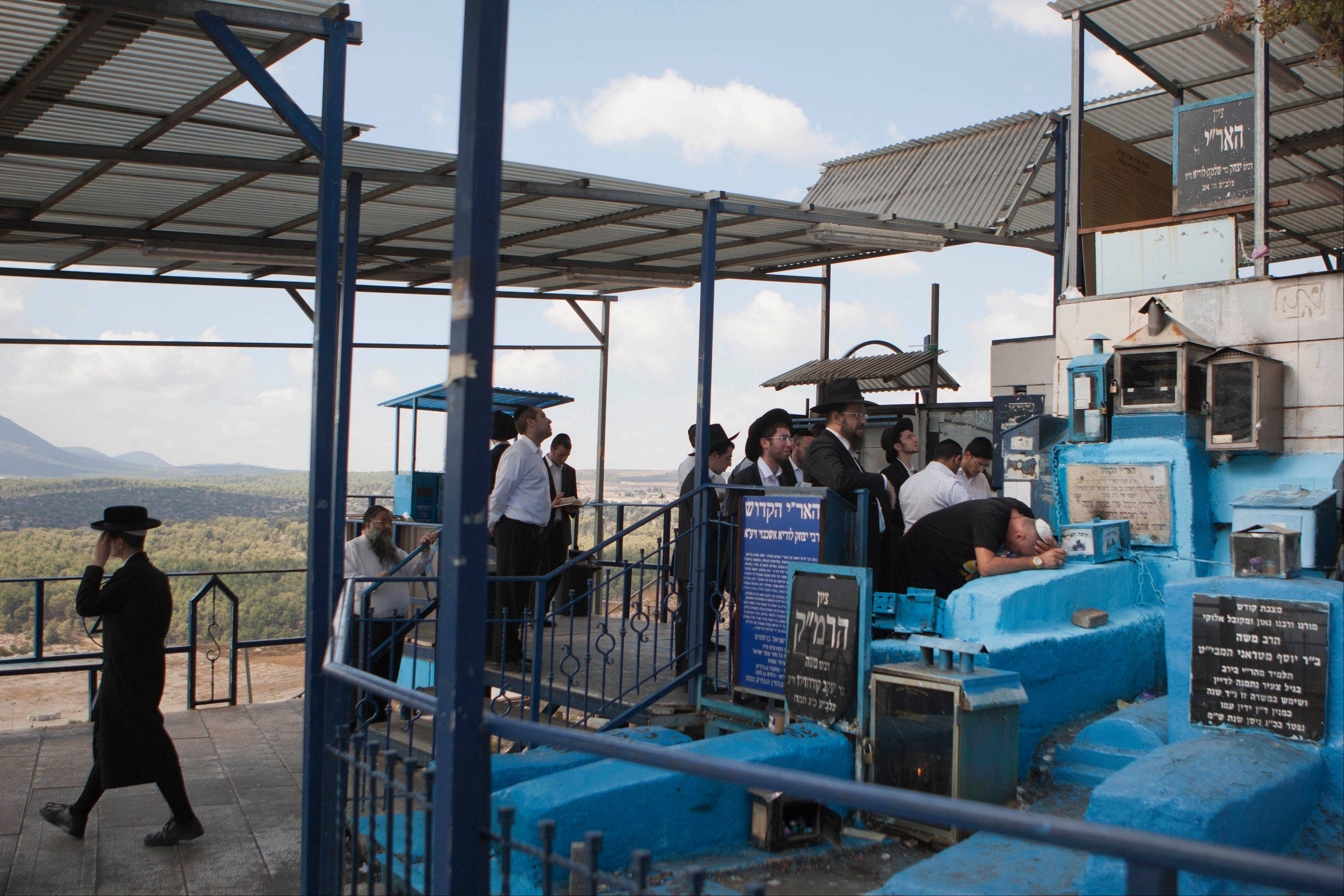 Jews visit the Ari cemetery in Safed, Israel.