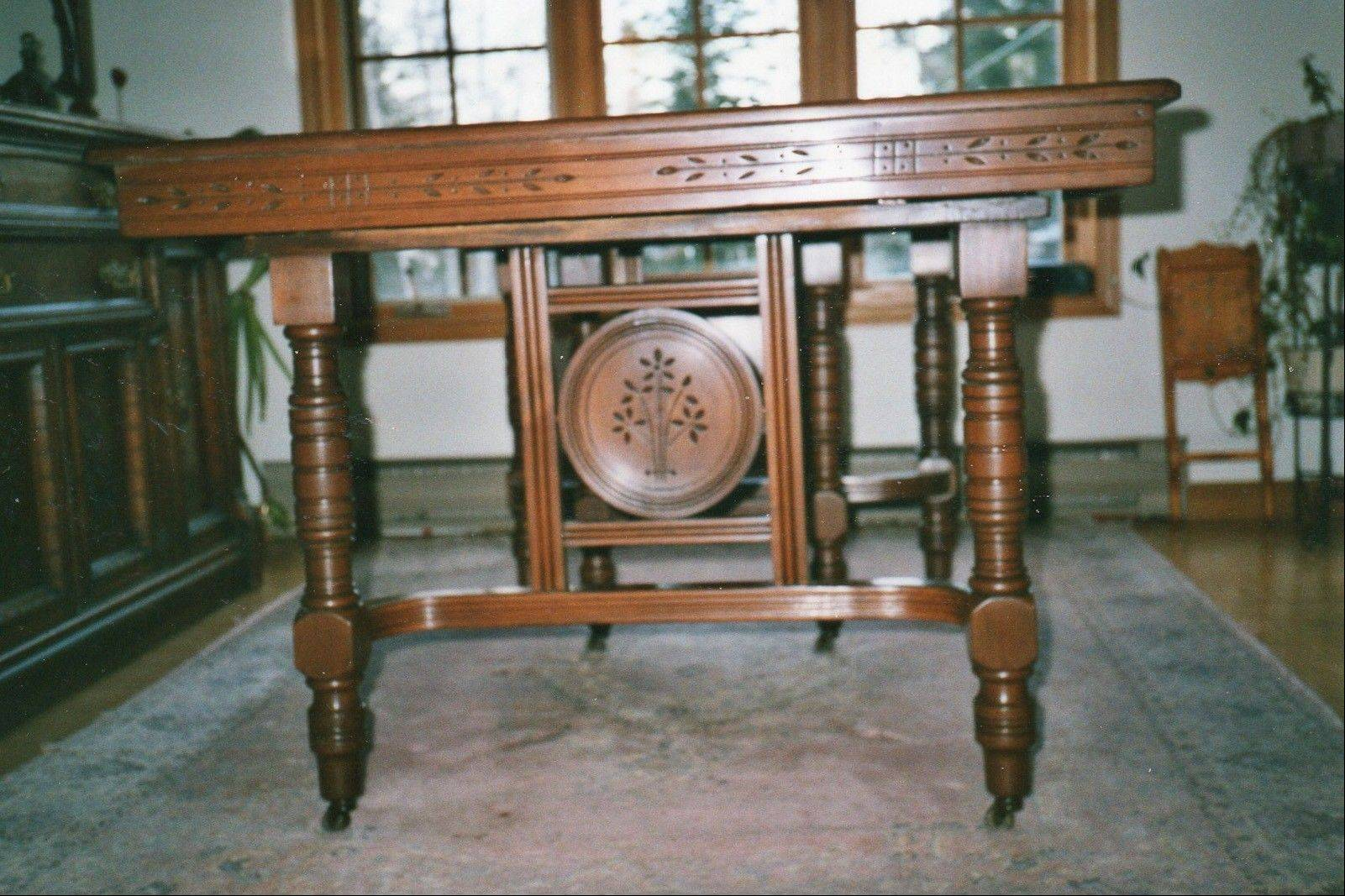 This dining room furniture is in the English Eastlake style.