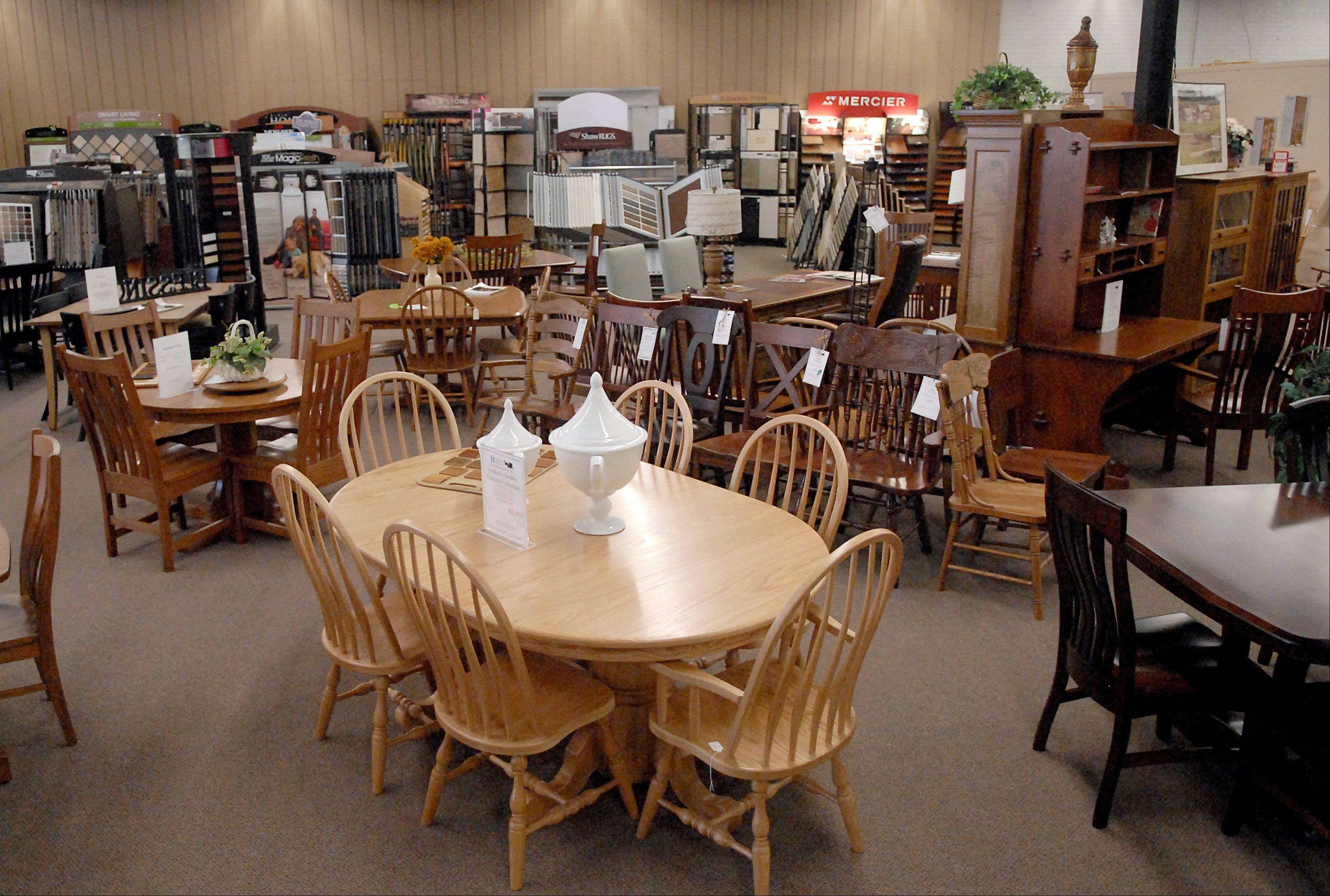 Burress Amish Furniture at 663 Villa St. in Elgin has been in business since 1983.