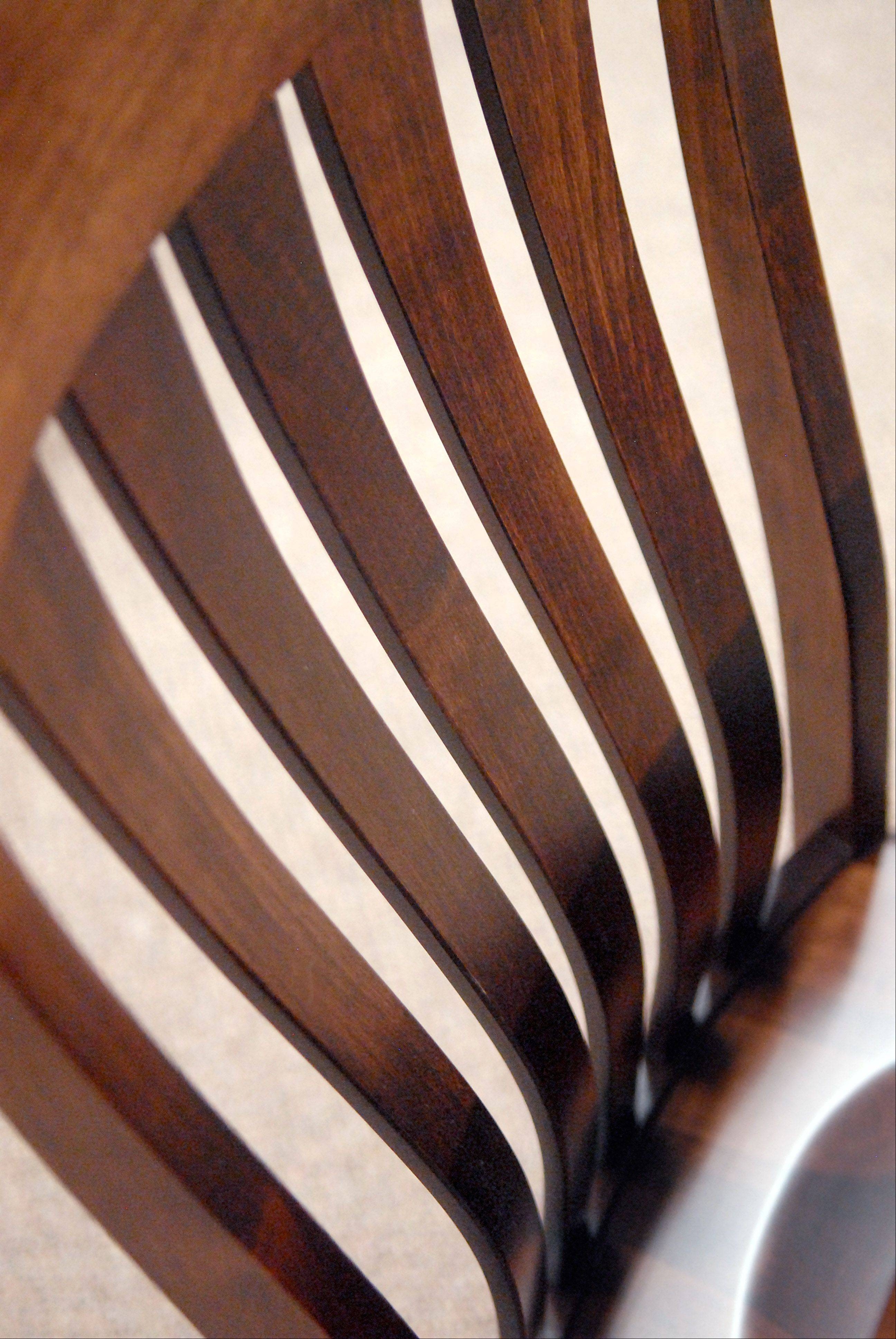 The Curved Lines Of A Solid Wood Dining Room Chair At Burress Amish  Furniture In Elgin