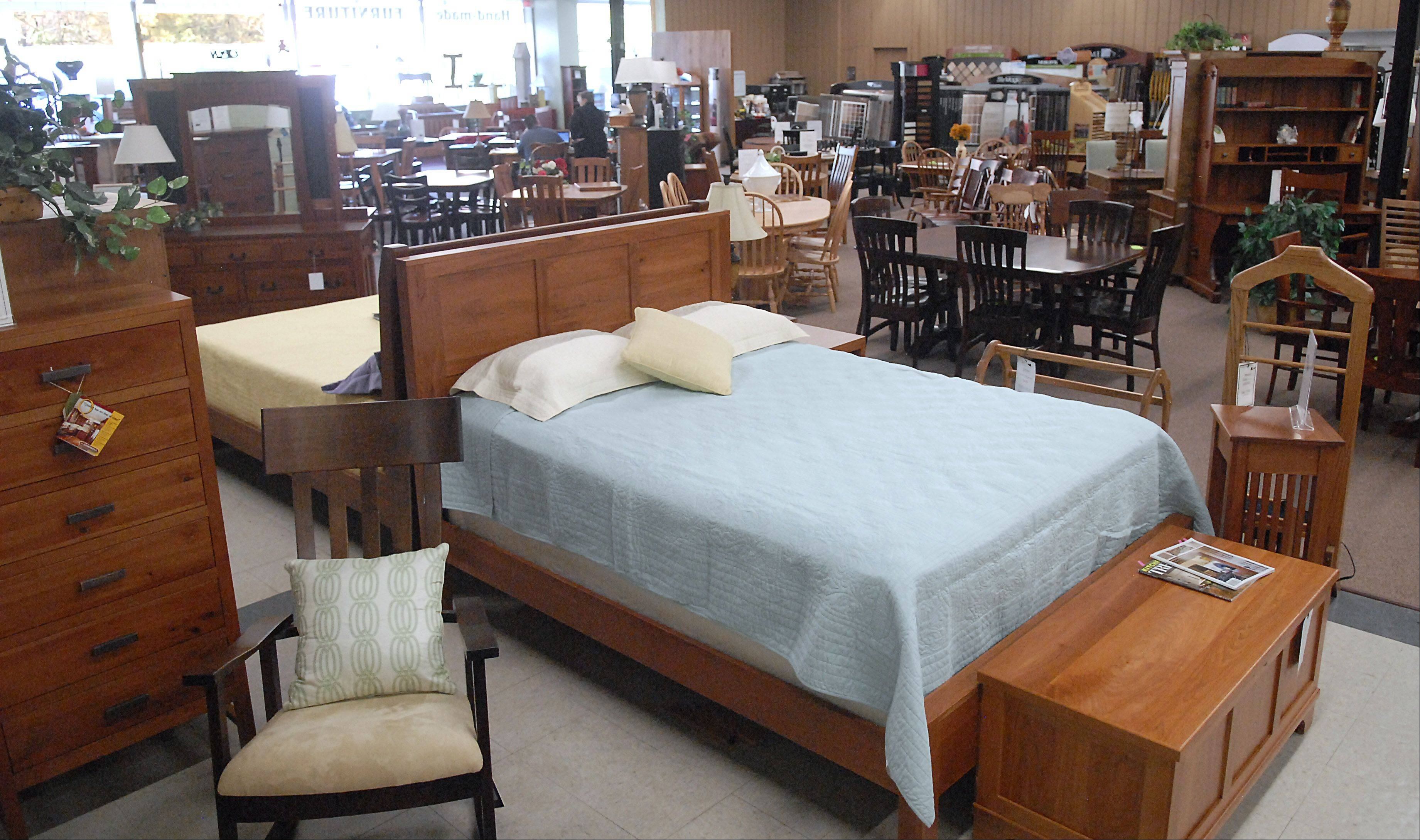 Part of the bedroom furniture collection at Burress Amish Furniture located 663 Villa St. in Elgin.