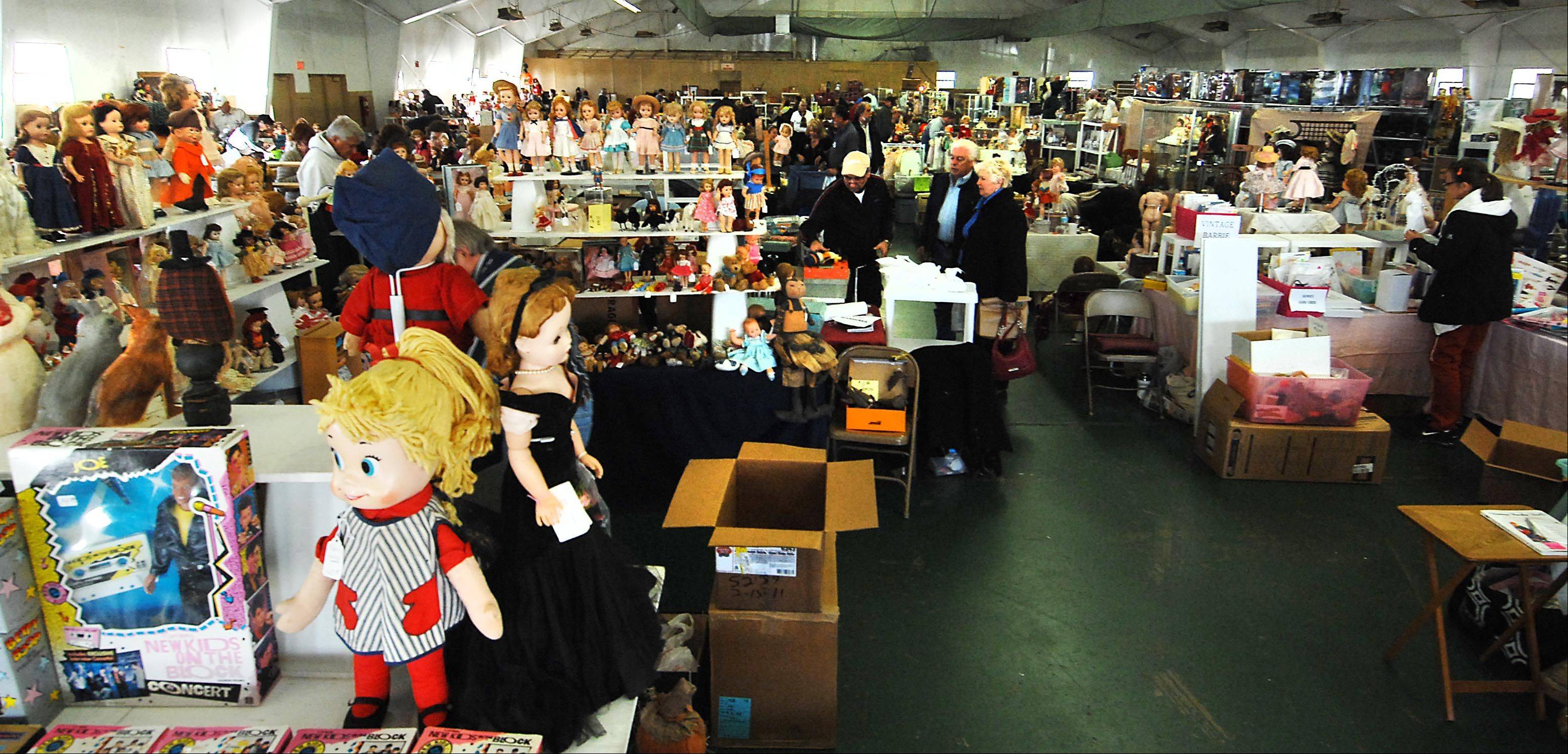 Four building were filled with collectible toys for sale Sunday at the Chicago Toy Show at the Kane County Fairgrounds in St. Charles.