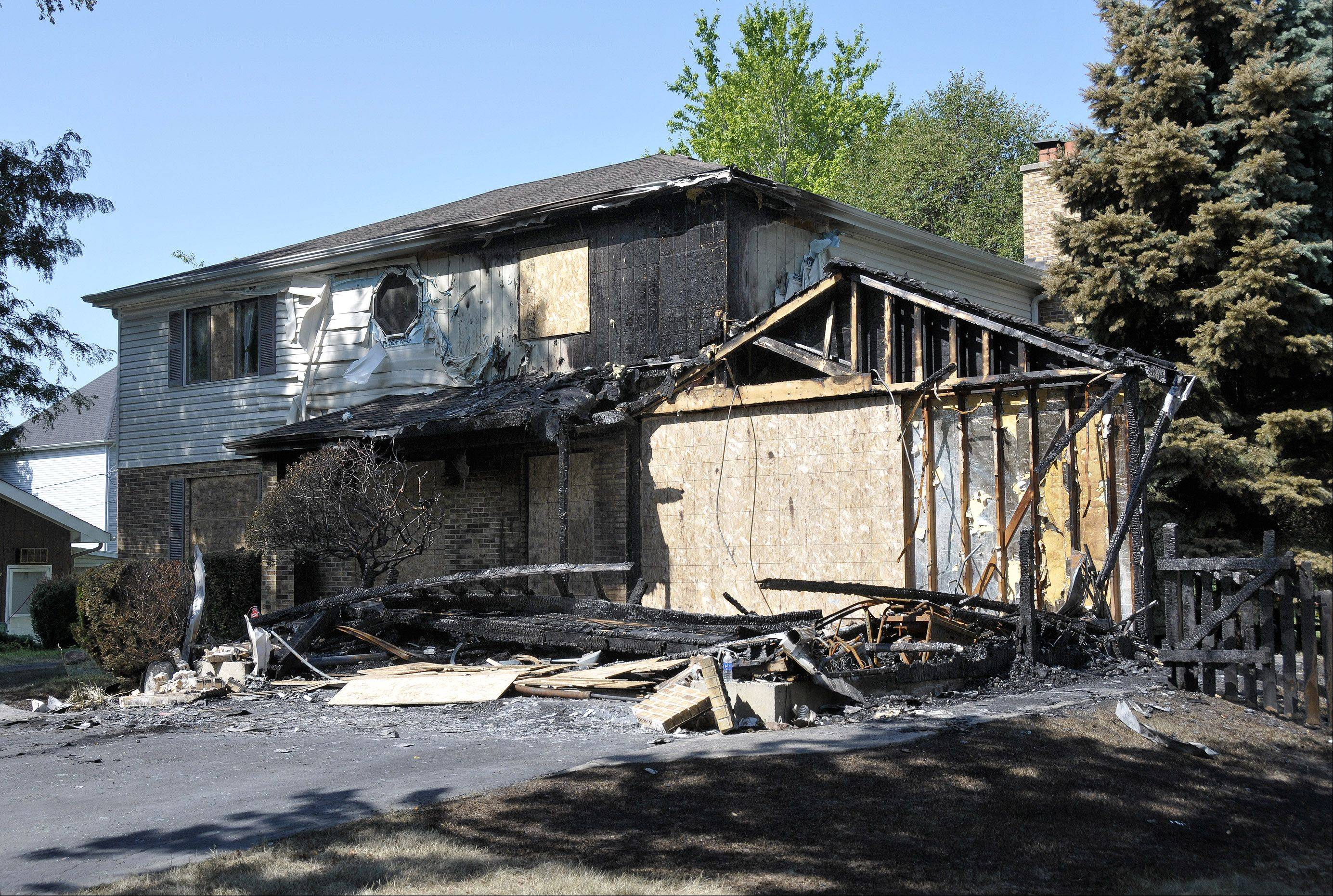 The July 22 arson fire at 1028 S. Ahrens Ave. in Lombard killed Paula Morgan and left Jason Cassidy severely burned.