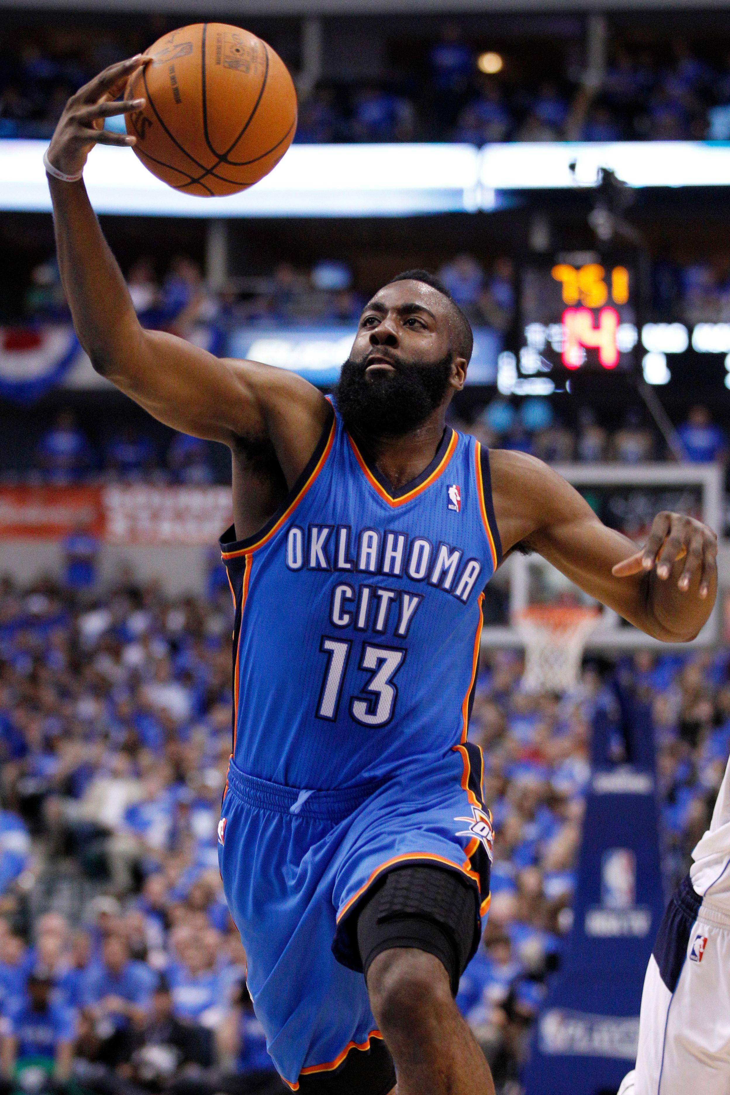James Harden was traded last week from the Western Conference champion Thunder to the rebuilding Rockets.