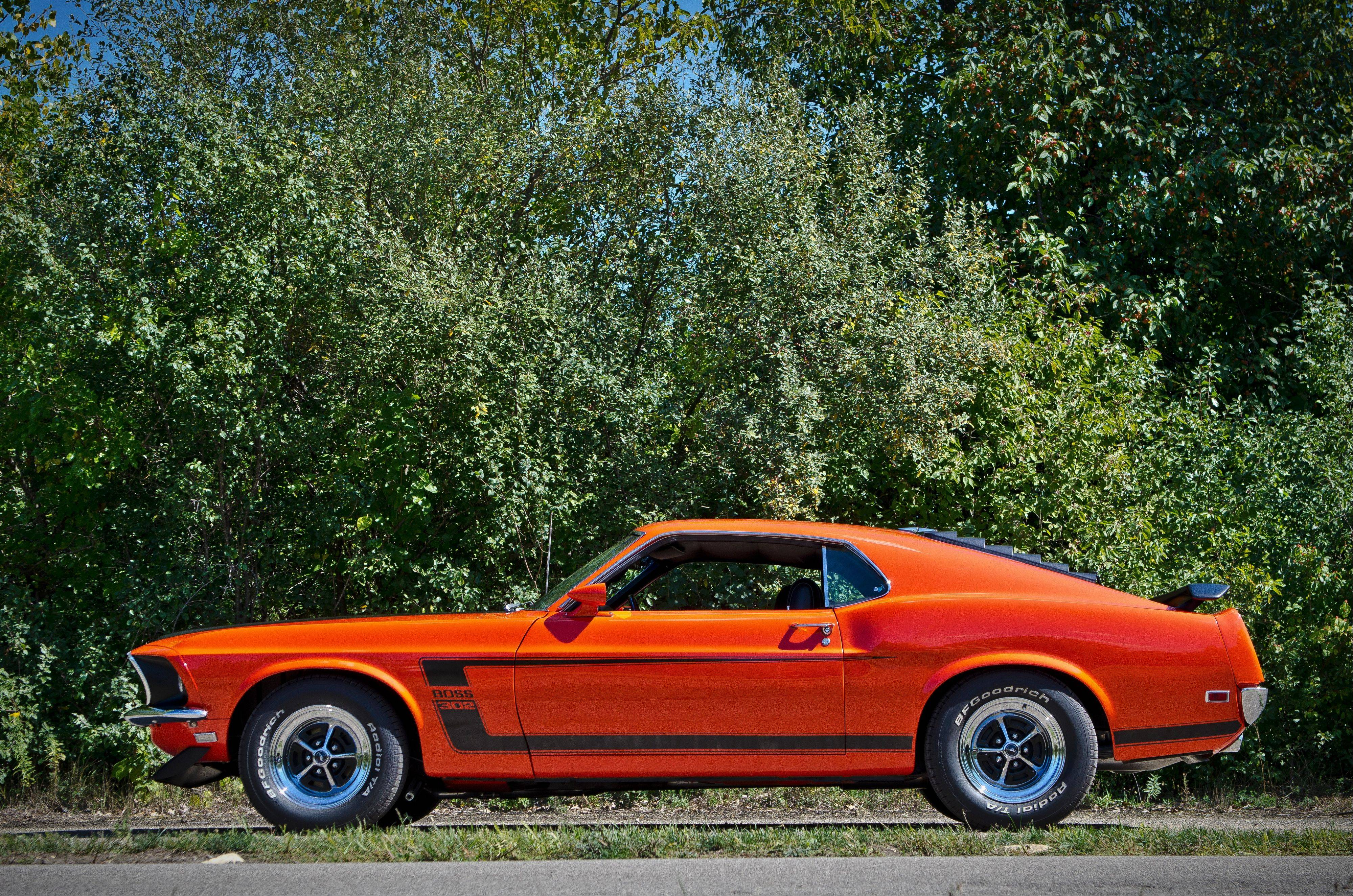 "Mitchell selected Calypso Coral paint for his Boss 302 Mustang. ""The color just pops in the sun and really turns heads,"" he says."