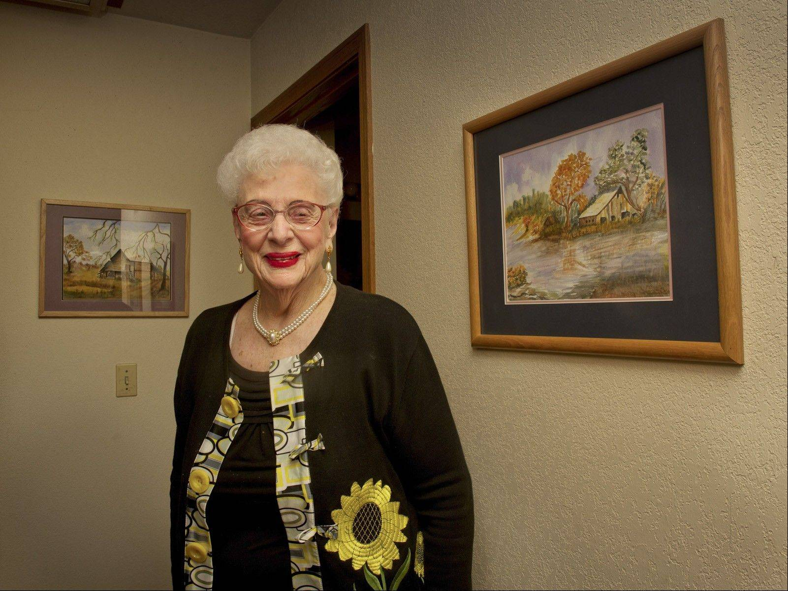 SHNS PHOTO/THE SACRAMENTO BEEVirginia Bane, 89, was among the first U.S. patients age 75 or older to get a mini-telescope implanted in her eye to treat macular degeneration.