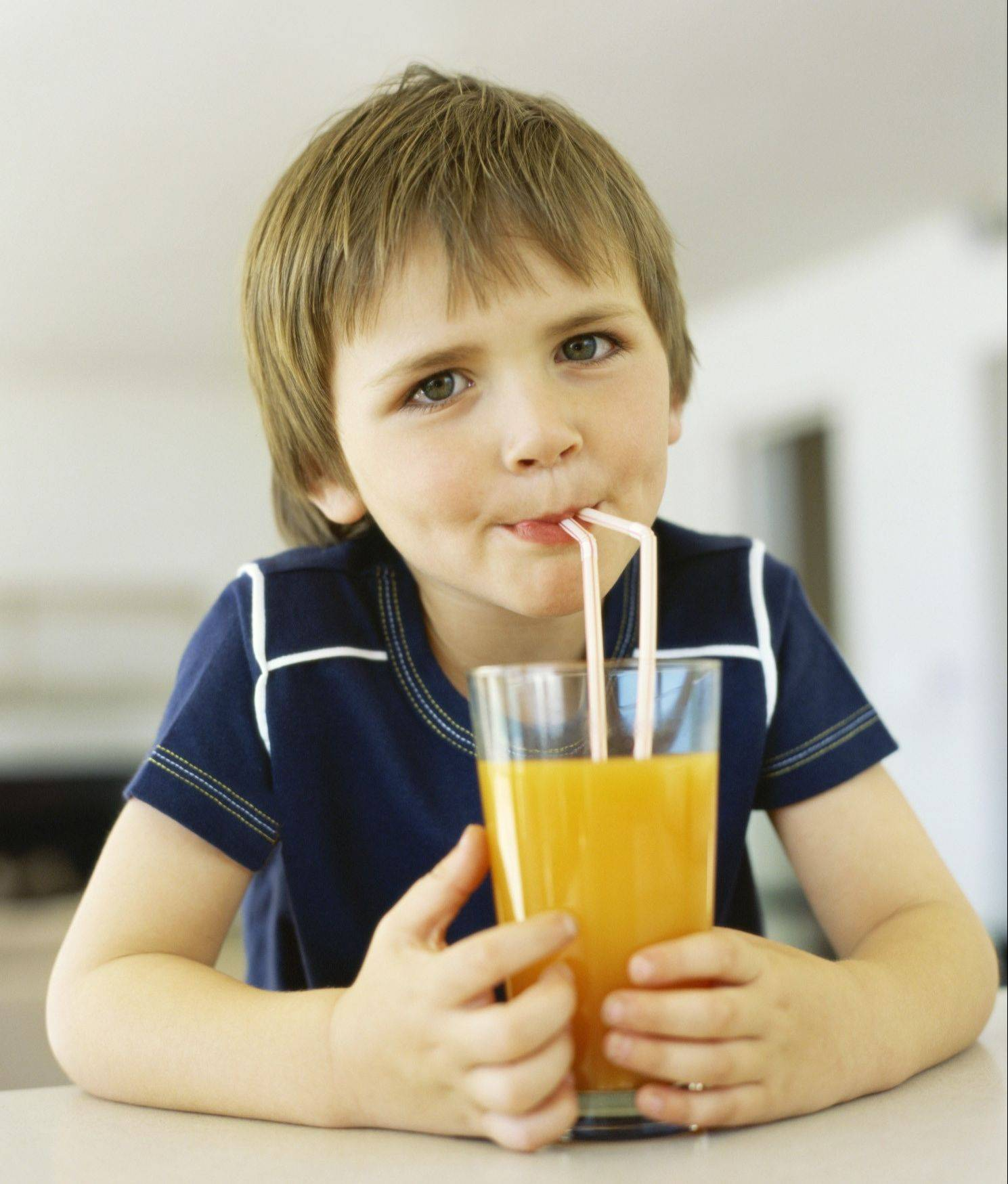 Parents should be wary of having their children drink too much juice, which comes with lots of calories.