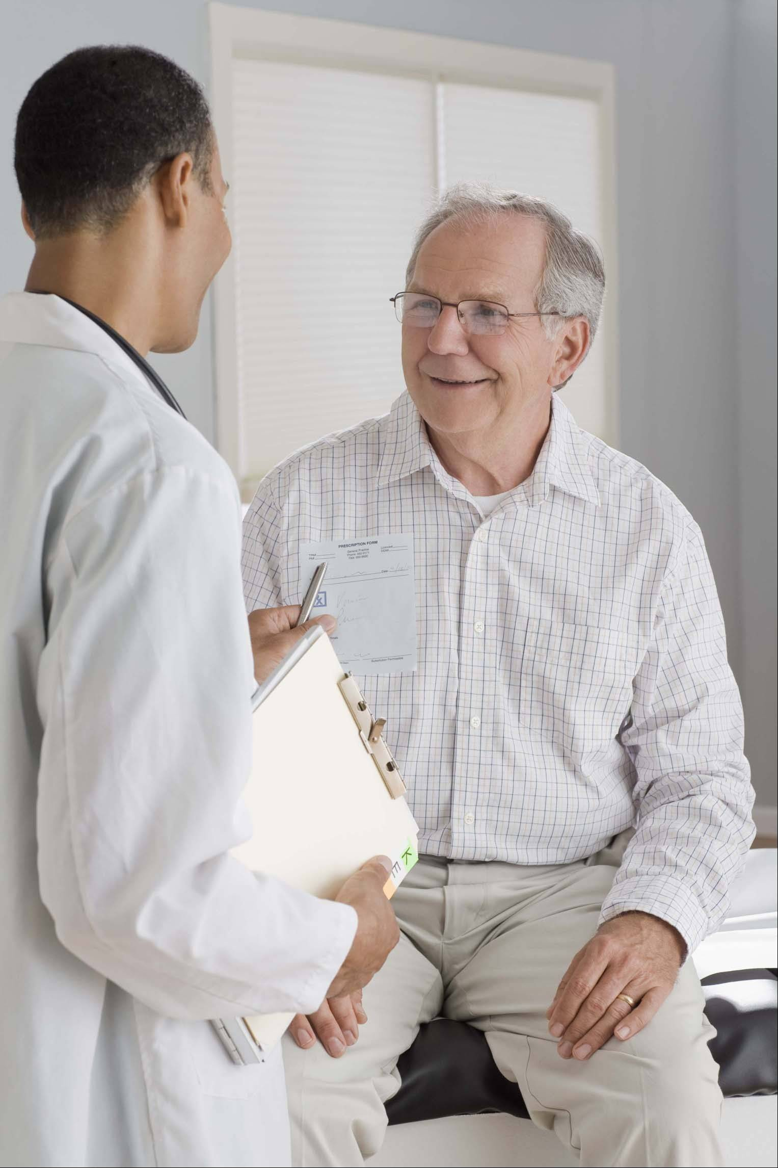 Experts recommend patients keep their doctors updated on their health history and condition.