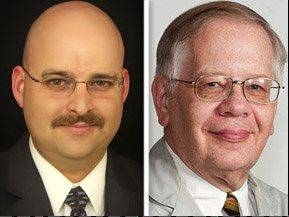 Republican Steve Newton, left, and Democrat Tom Rudd are running for Lake County coroner.