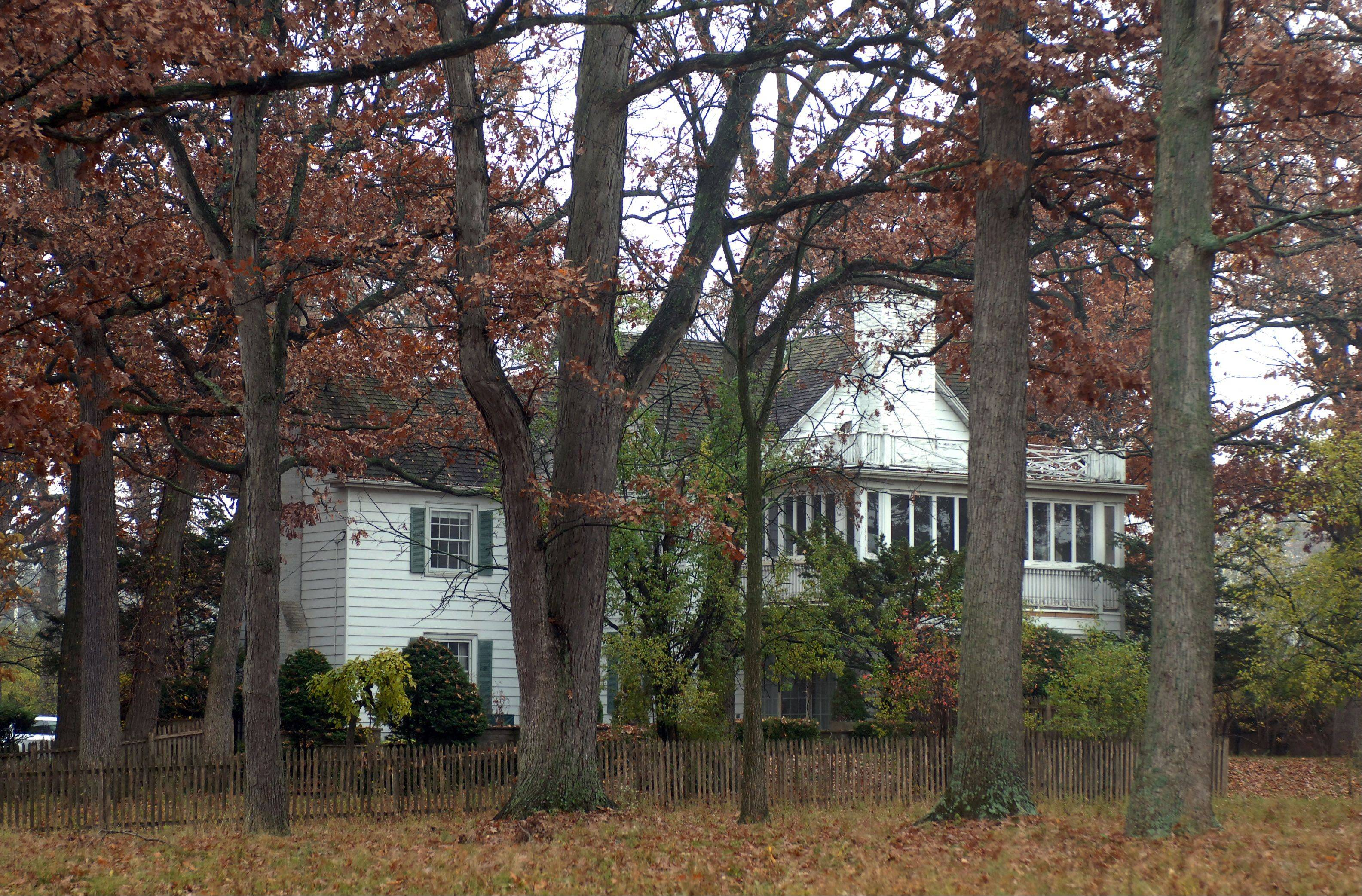 Plenty of trees surround the 1920s-era house at the former Whippoorwill Farm.