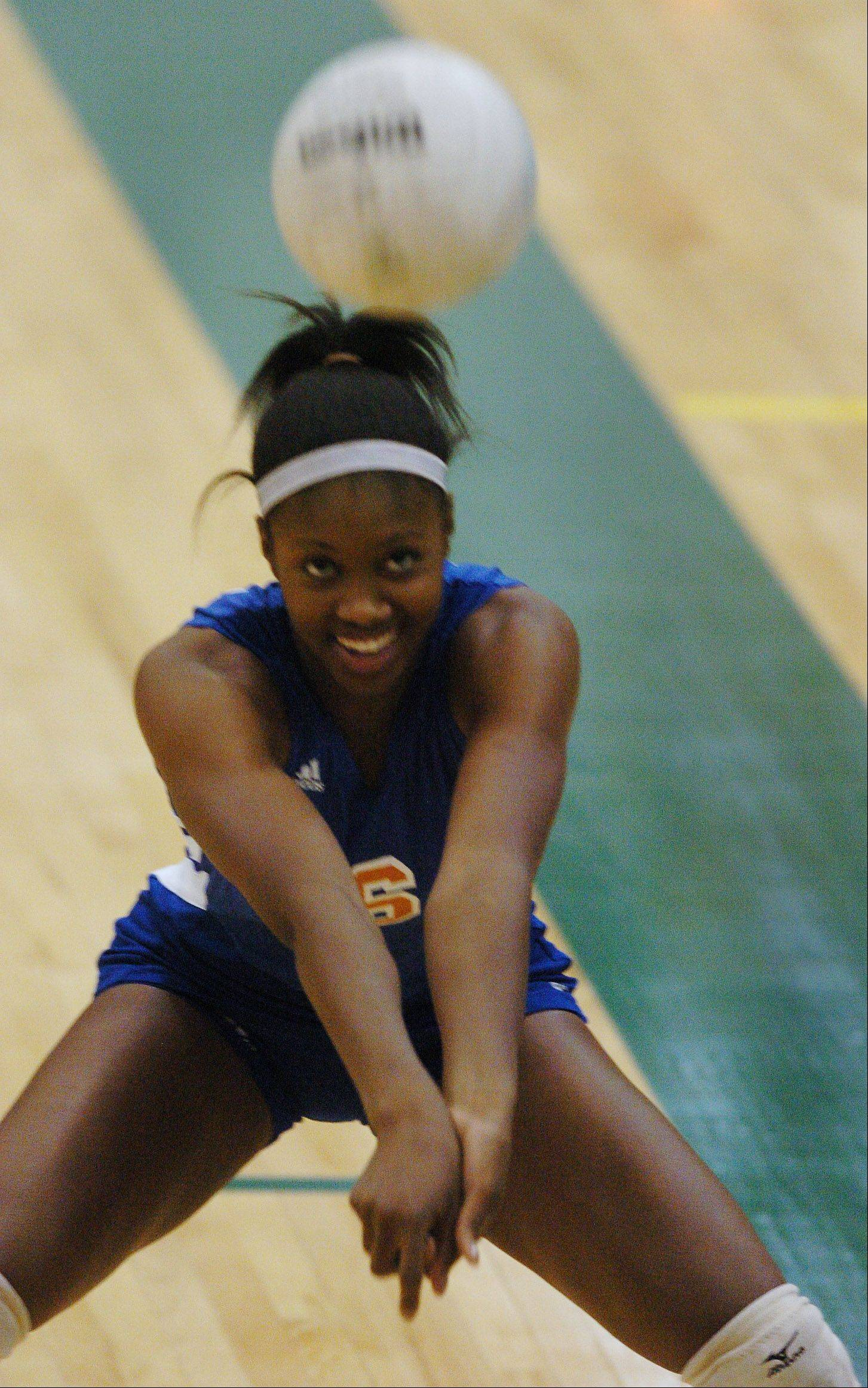Hoffman Estates product Altrese Hawkins is under consideration for national honors in a standout senior volleyball season at Memphis.