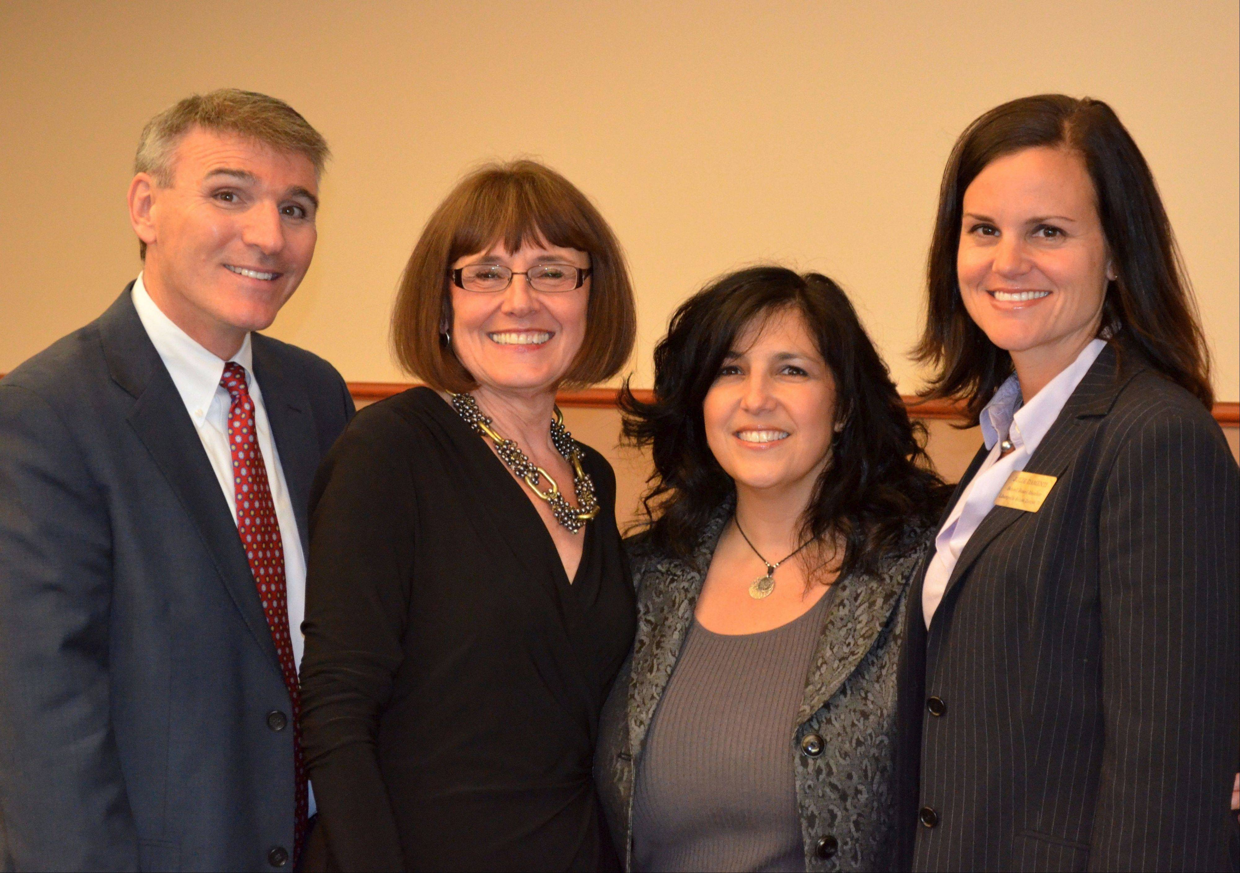 From left: Libertyville Elementary District 70 Superintendent Dr. Guy Schumacher and board members Laura Beltchenko, Maryann Ovassapian and Julie Damenti; not pictured: board member Jennifer Lund.
