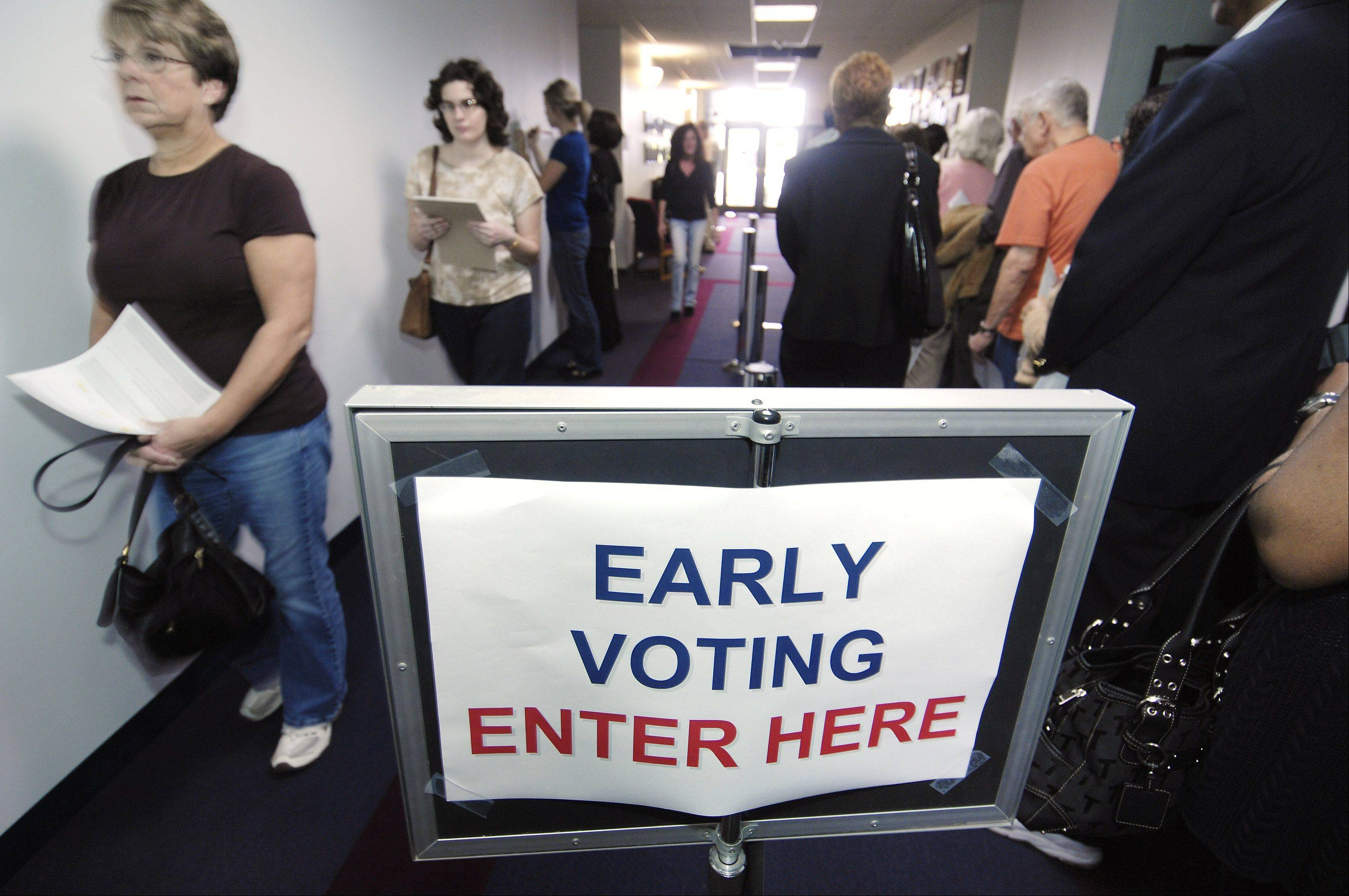Early voting turnout high in suburban Cook County