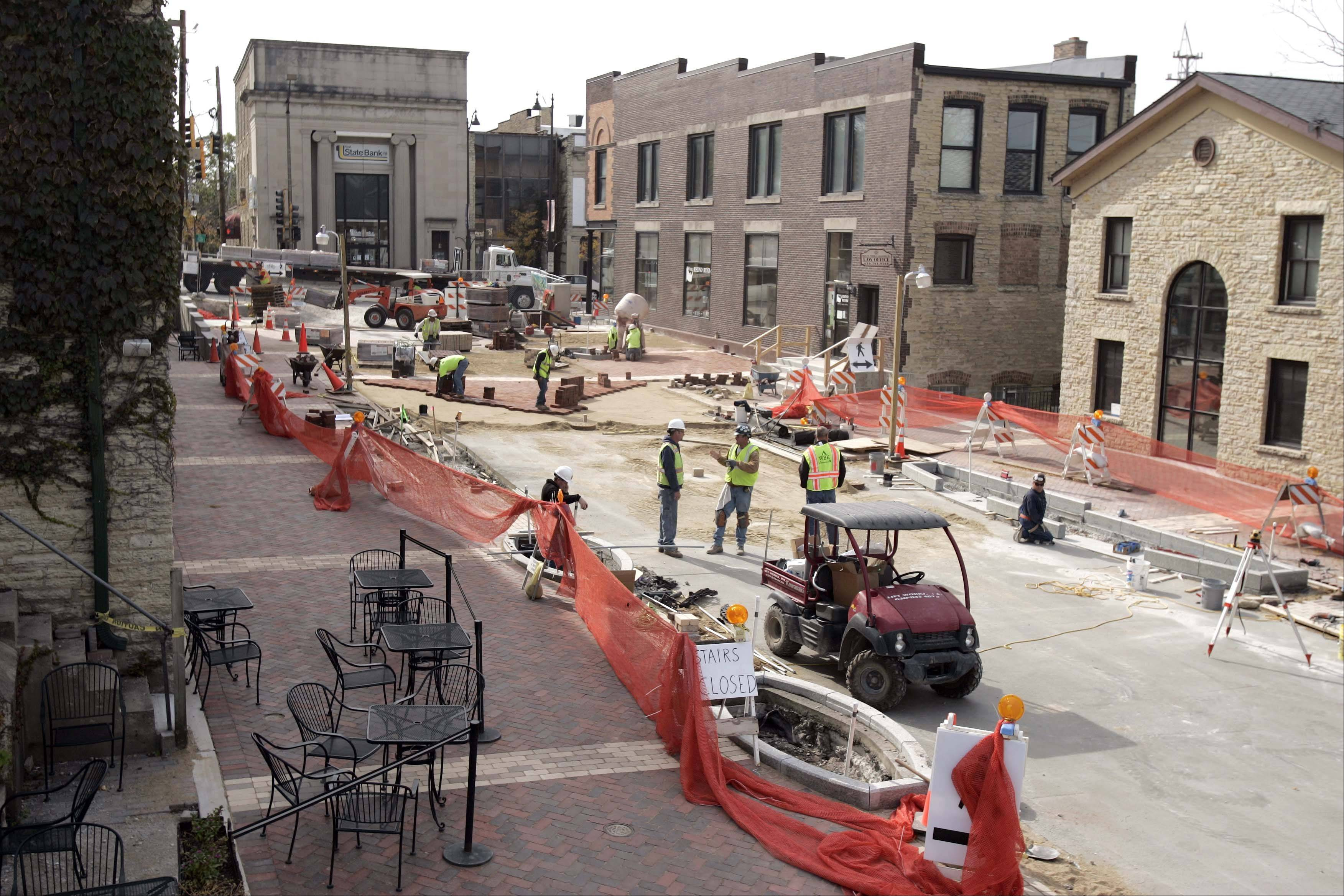 Construction of the streetscape on North River Street in downtown Batavia significantly disrupted business this summer. The city council is considering postponing streetscape and related improvements for Houston Street, which has already been postponed once, until at least 2014.