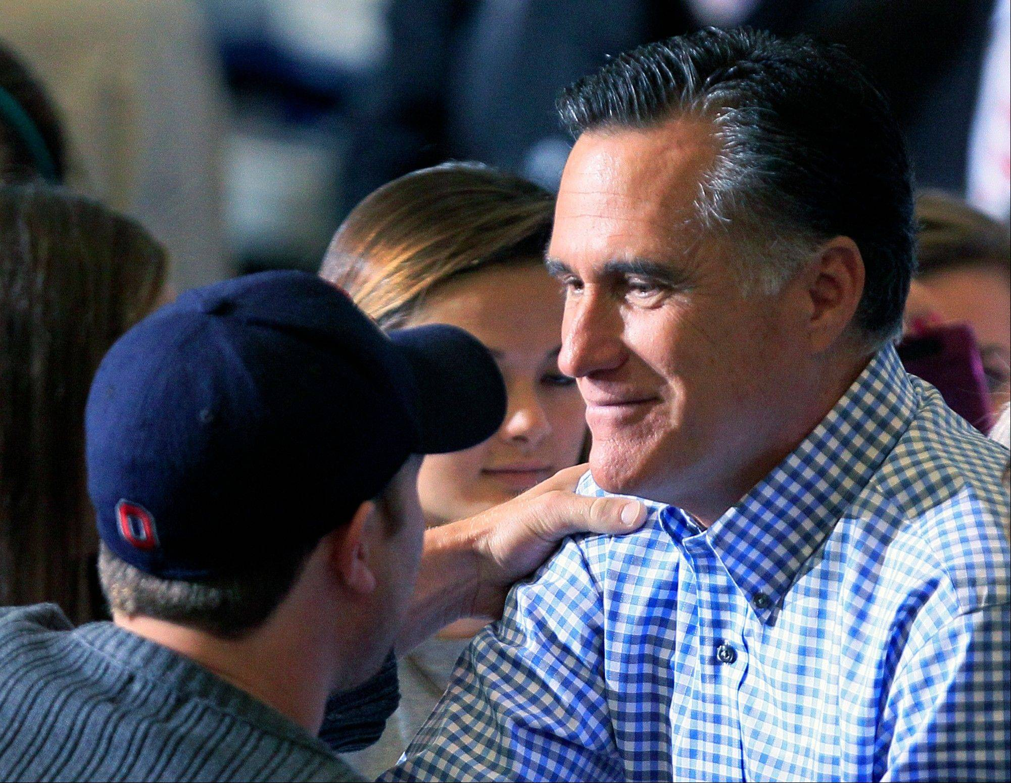 Republican presidential candidate, former Massachusetts Gov. Mitt Romney, seen campaigning in Kettering, Ohio,