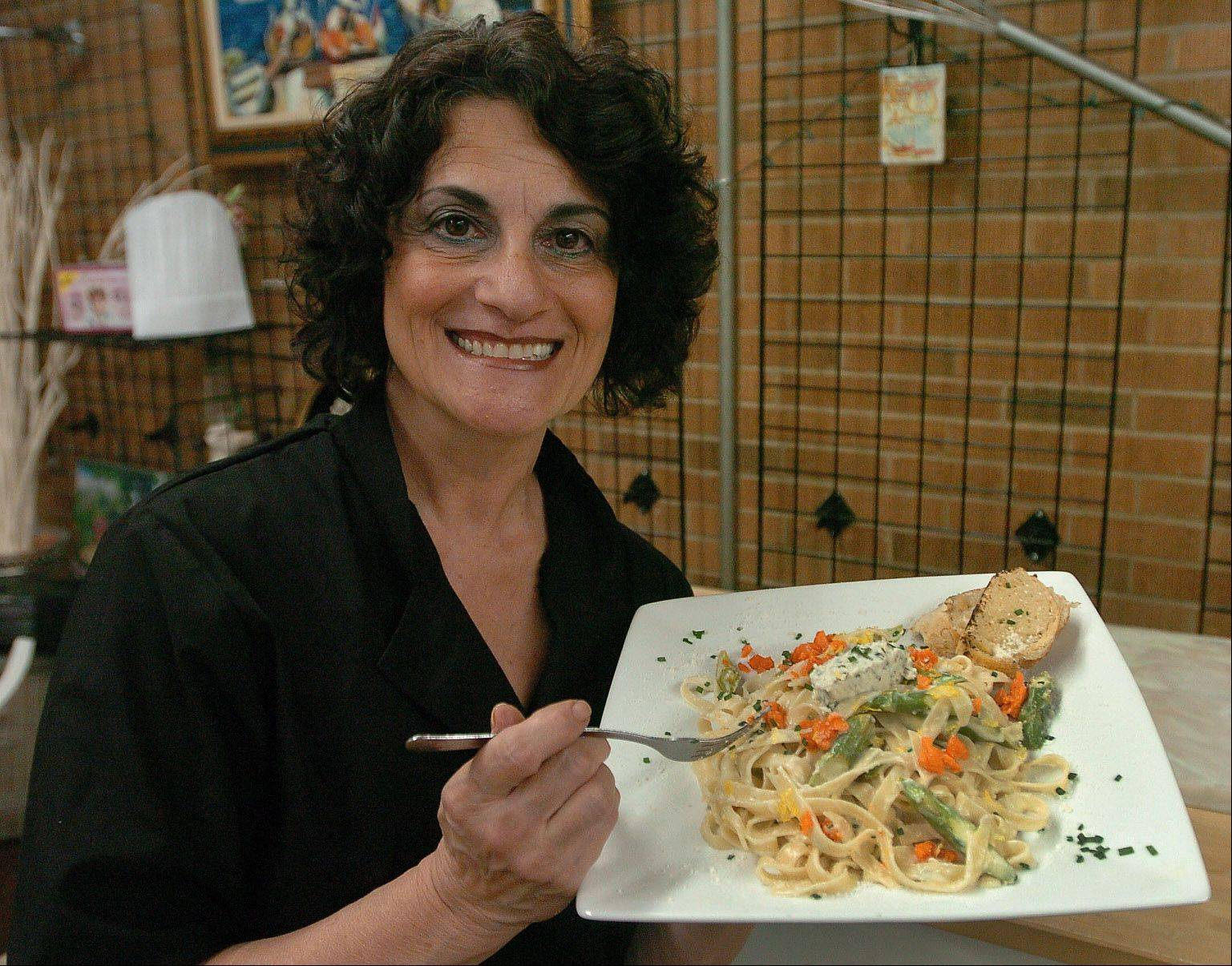 Chef Lucia Biscaglio runs a personal chef and catering service in Arlington Heights and gets much joy from teaching classes.