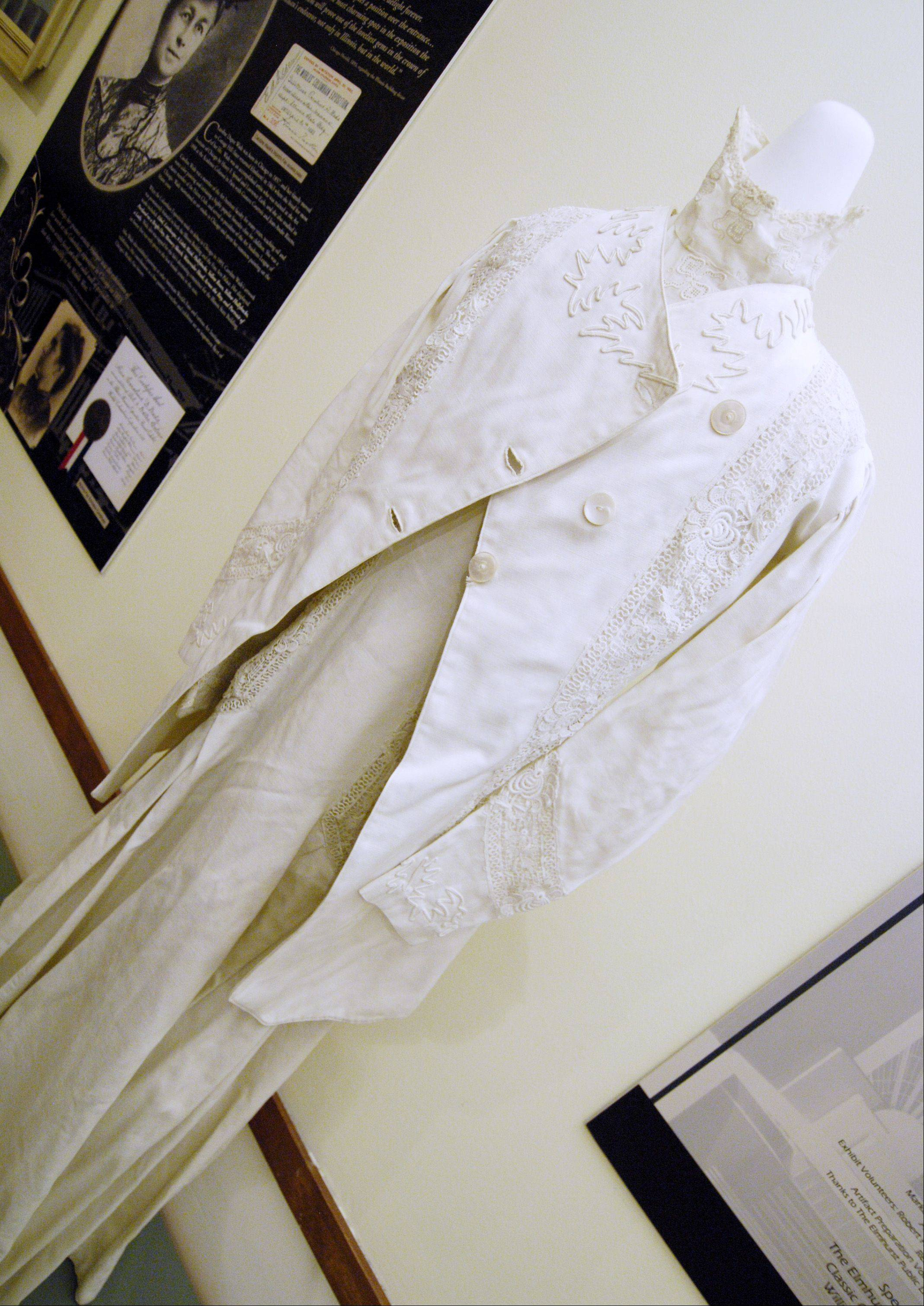 "A dress that was worn to the 1893 Chicago World's Fair is part of the ""Elmhurst Goes to the Fair"" display at the Elmhurst Historical Museum."