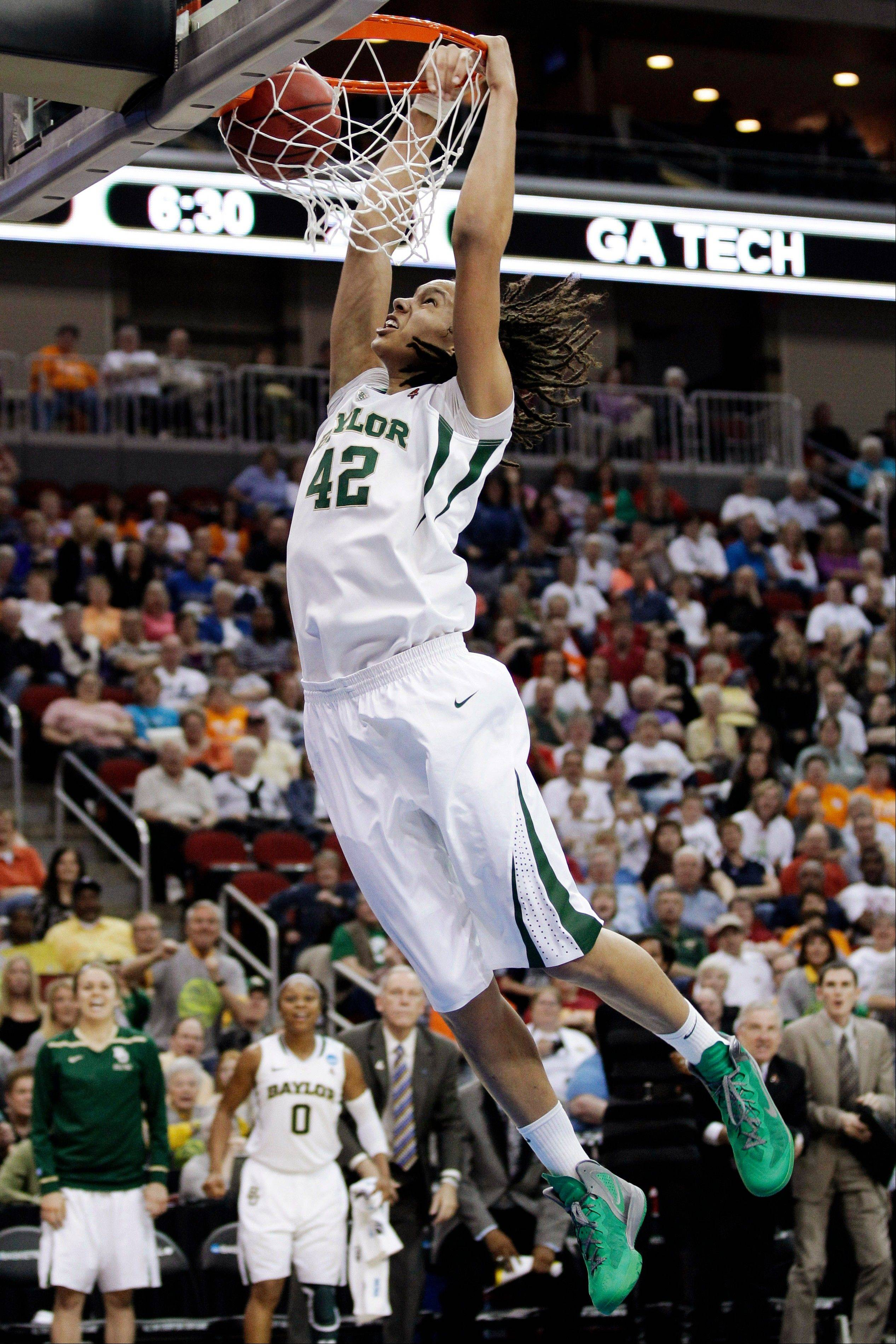 Baylor center Brittney Griner became only the third player to be a two-time unanimous choice on The Associated Press' women's basketball preseason All-America team, receiving all 40 votes from a national media panel.