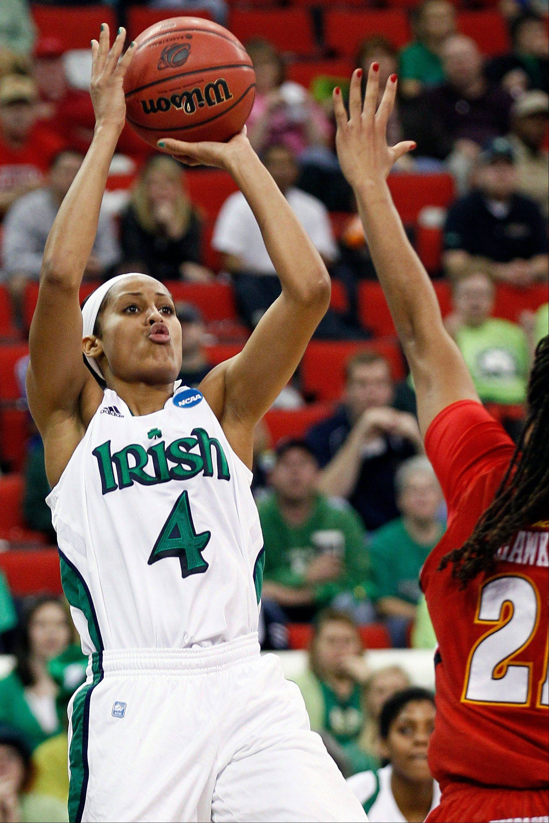 Notre Dame's Skylar Diggins was a unanimous choice to join The Associated Press' women's basketball preseason All-America team, receiving all 40 votes from a national media panel.