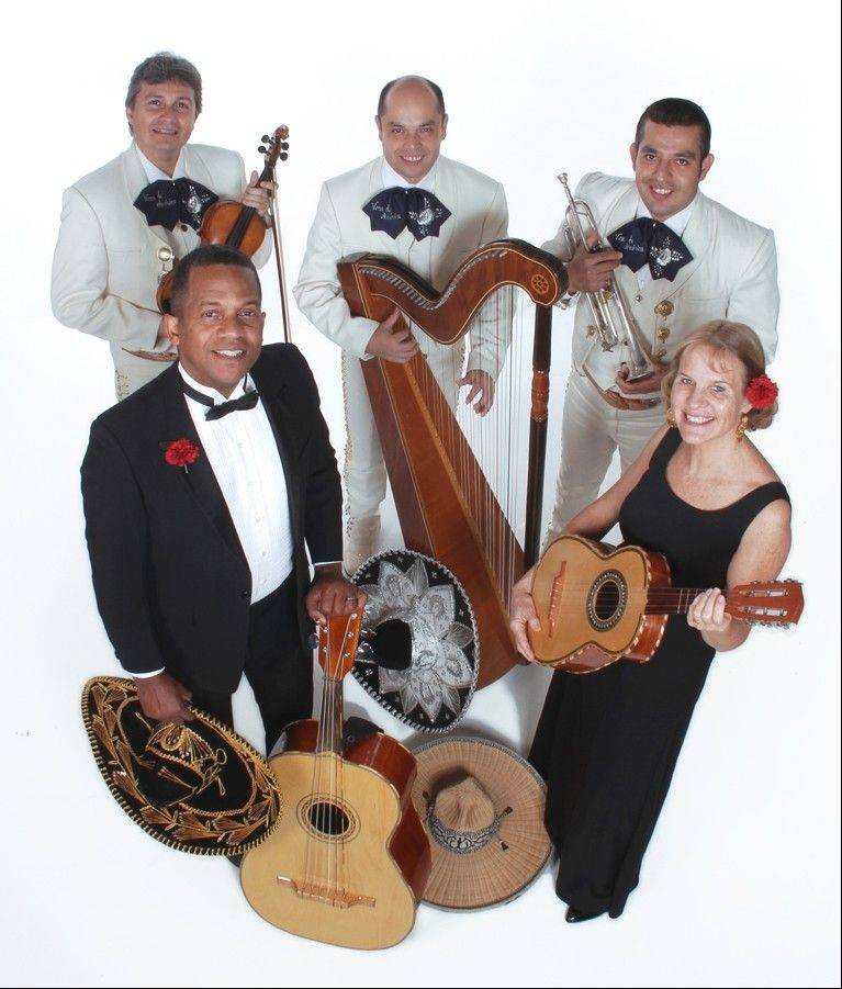 "Calle Sur's duo of Ed East and Karin Stein, front row, will present a variety of Latin American music as part of a quintet performance called ""Viva Mexico!"" at McHenry County College."