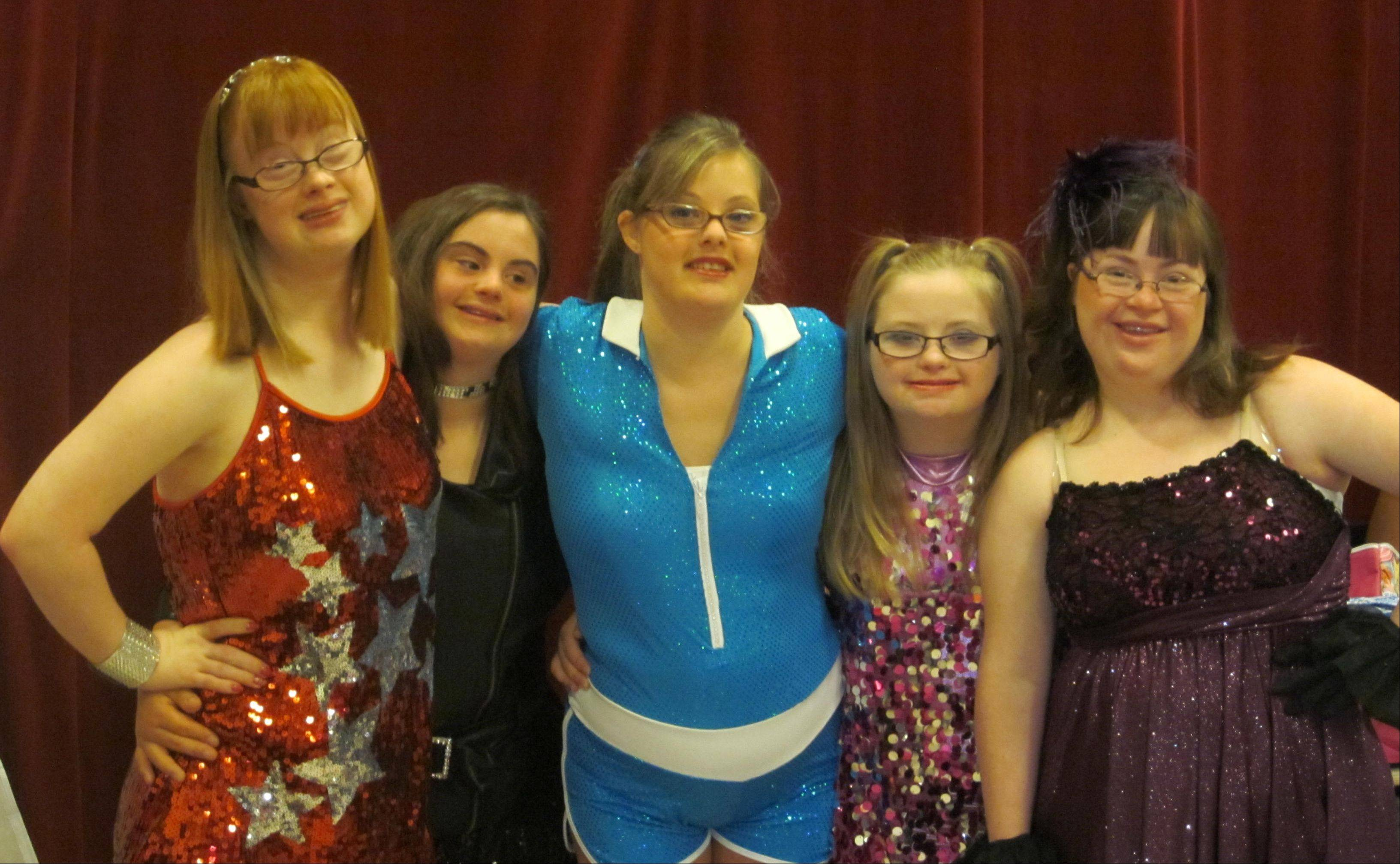 A dance troupe featuring five young women with Down syndrome � Kelly Neville, Rachel Giagnorio, Julia Smarto, Michelle Anderson and Allie Ravin-Hansen � came together at Center Stage Dance Studio in Bloomingdale and will perform in Special Talents America.
