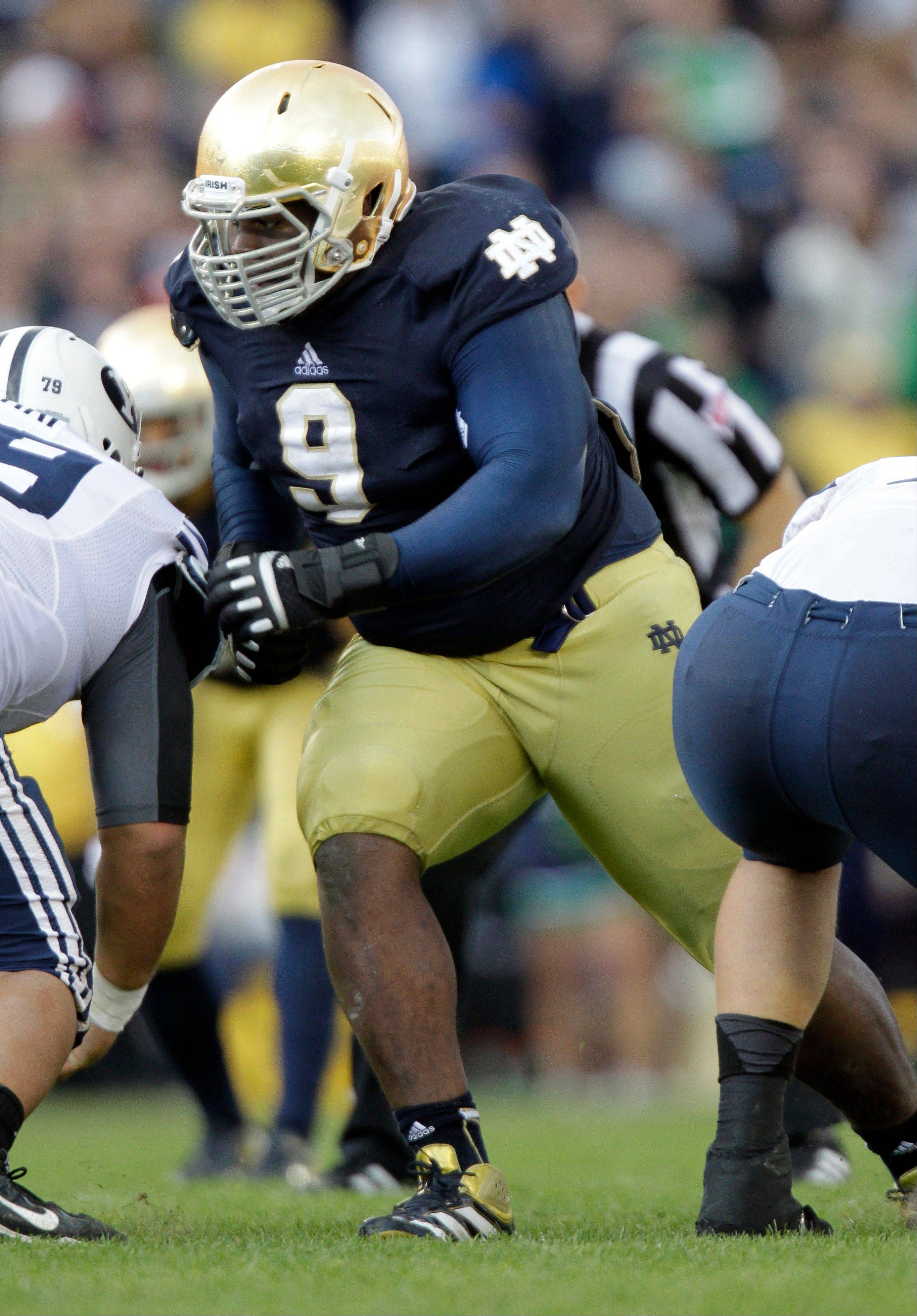 Notre Dame nose guard Nix always at the center of things