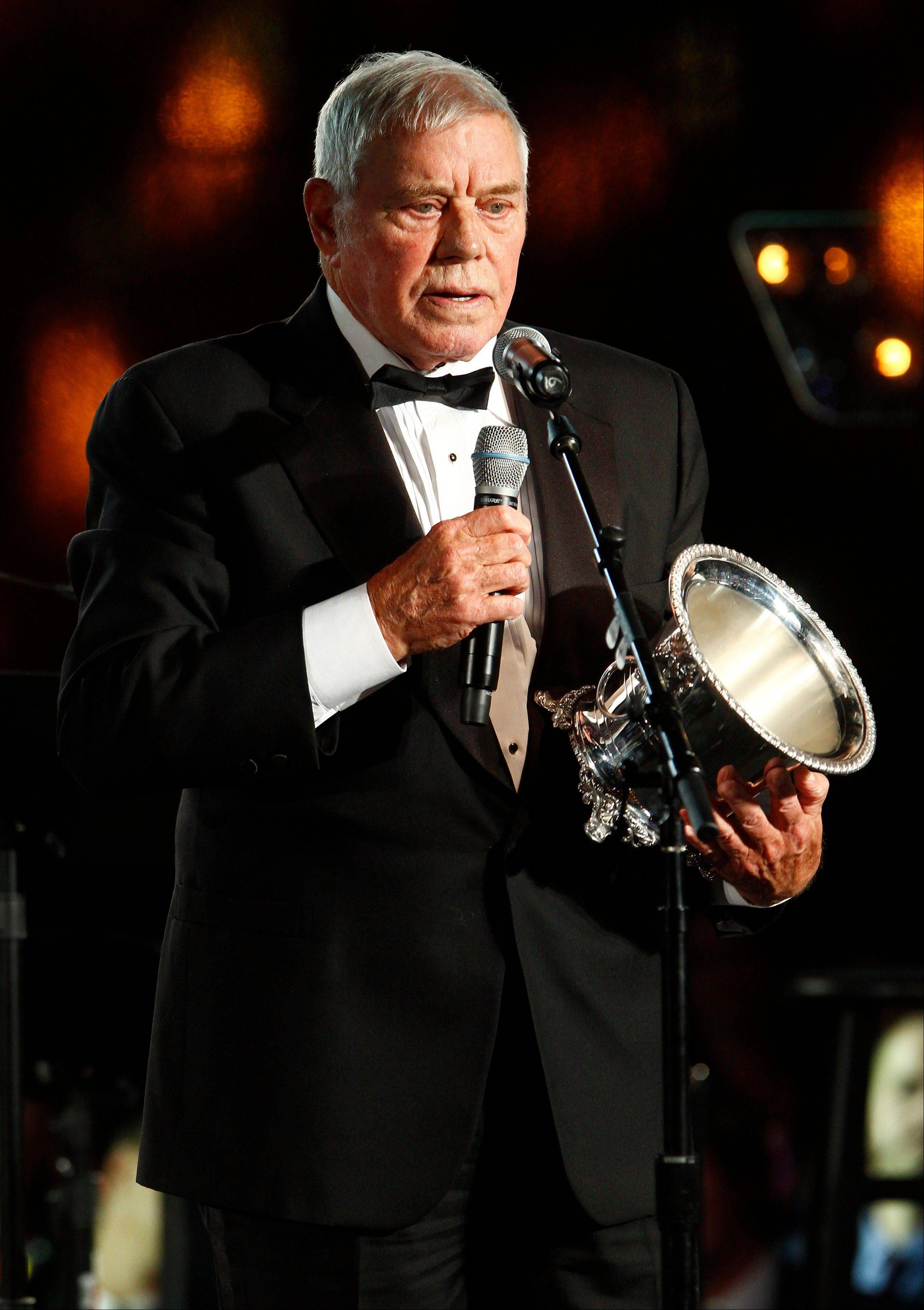 Tom T. Hall accepts the Icon Award at the 60th Annual BMI Country Awards on Tuesday in Nashville.