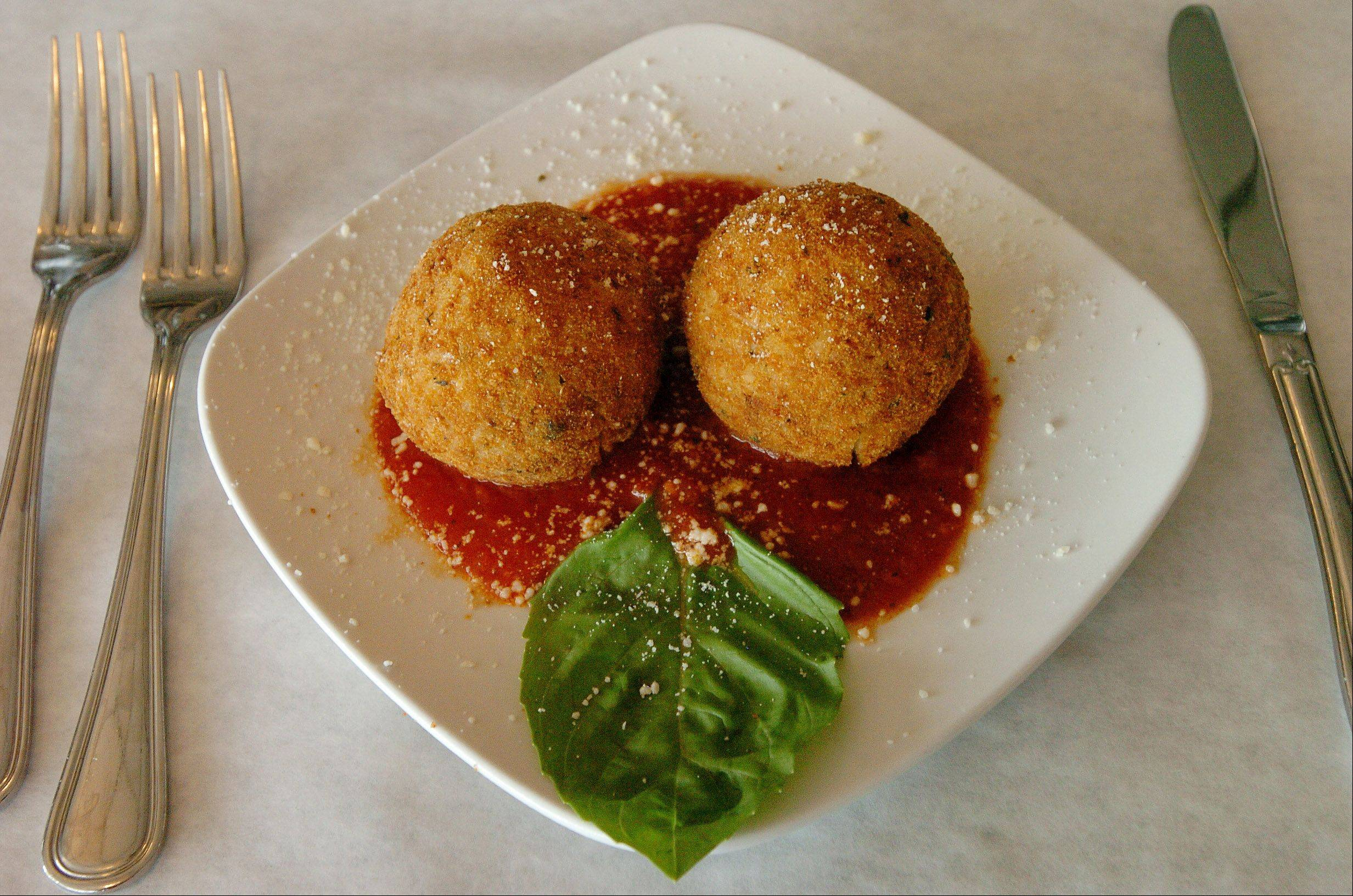 Arancini di Riso at Di Benedetto Trattoria in Hoffman Estates.