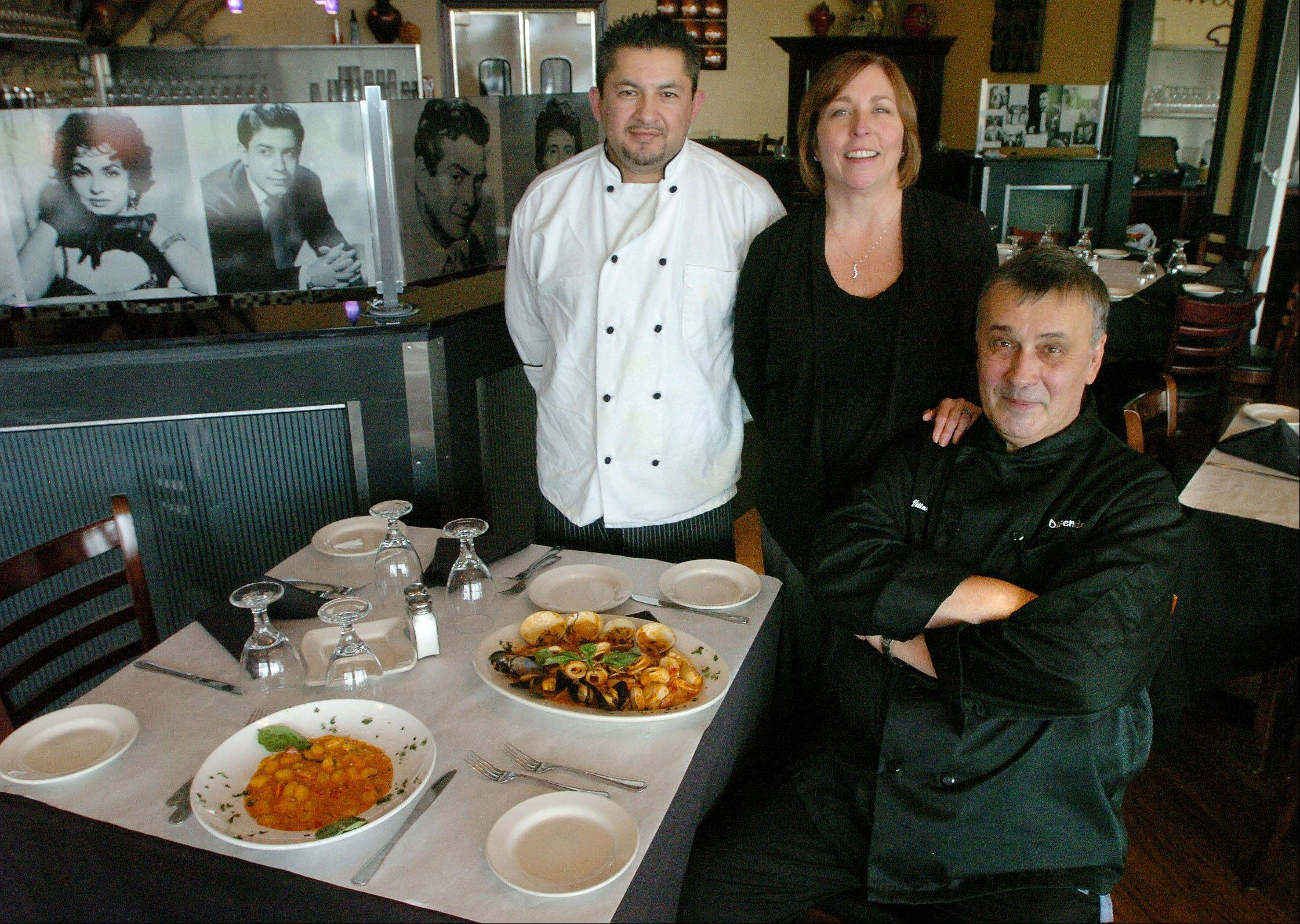 Chef de cuisine, Arturo Gomez, from left, owner Kathy Oberli and executive chef Vittorio Di Benedetto are waiting to serve you at DiBenedetto Trattoria in Hoffman Estates.