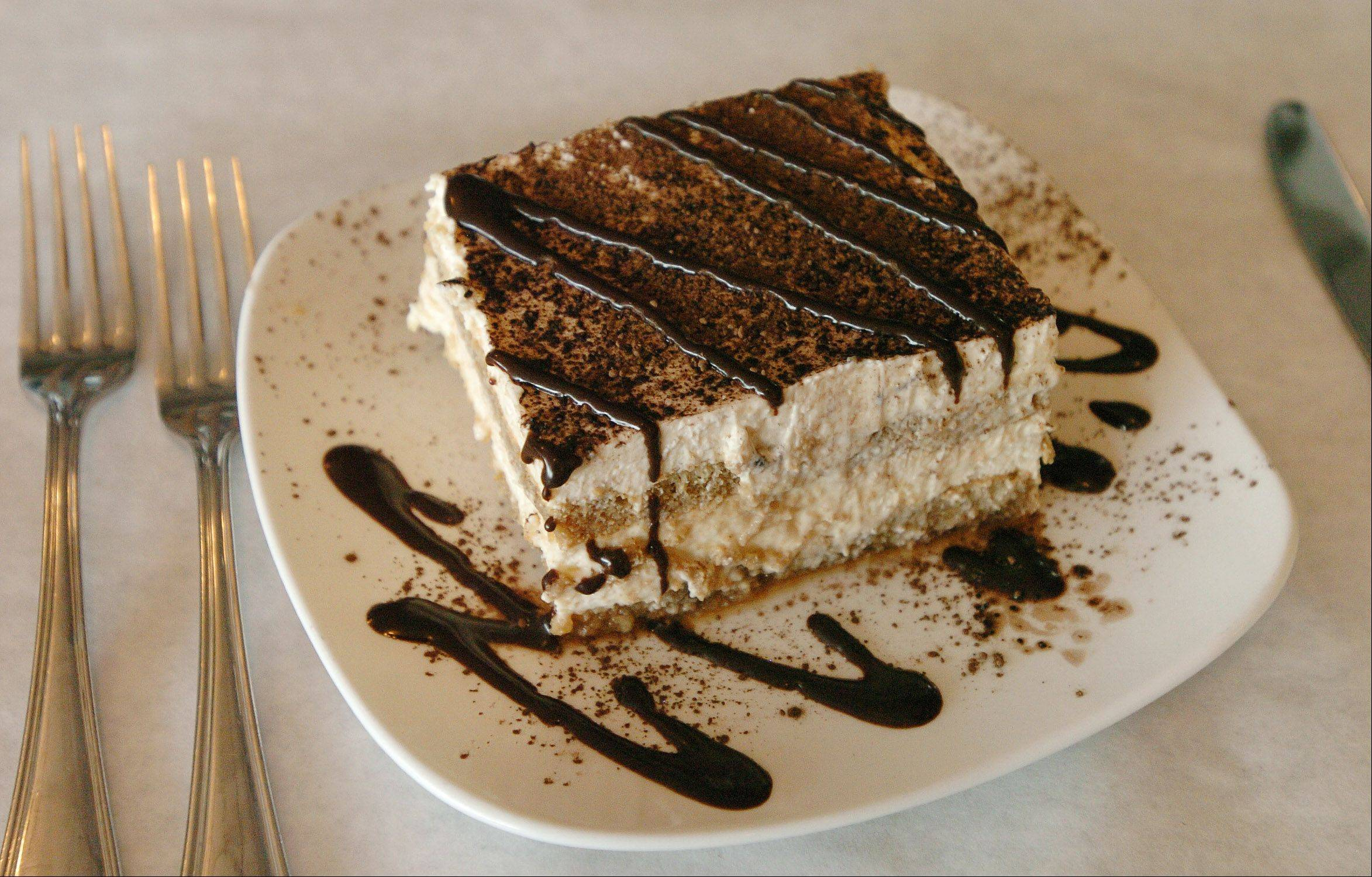 The tiramisu at DiBenedetto Trattoria in Hoffman Estates is big enough to share.