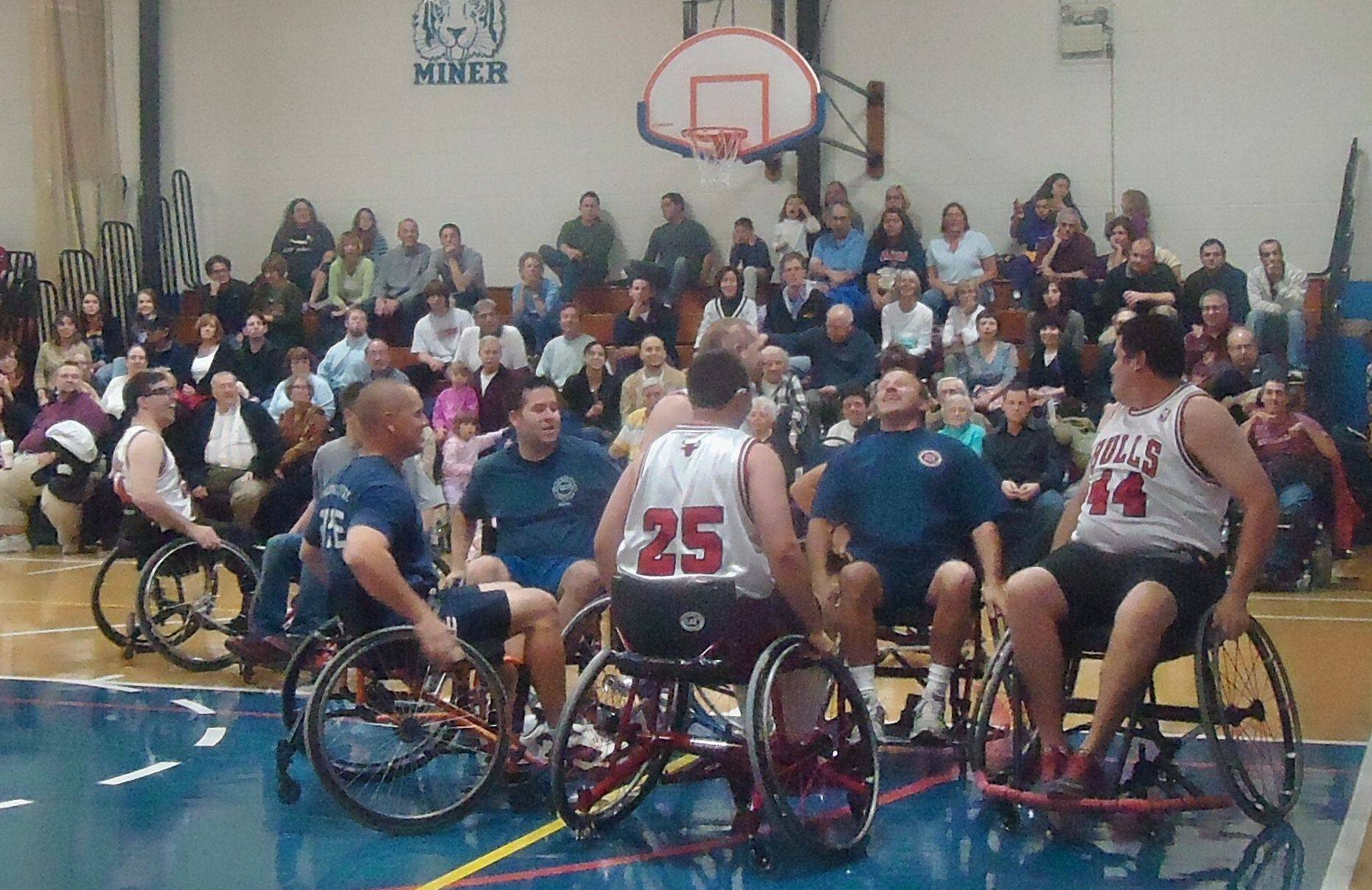 Arlington Heights and Buffalo Grove firefighters will try to beat the Chicago Wheelchair Bulls when they play Nov. 10.
