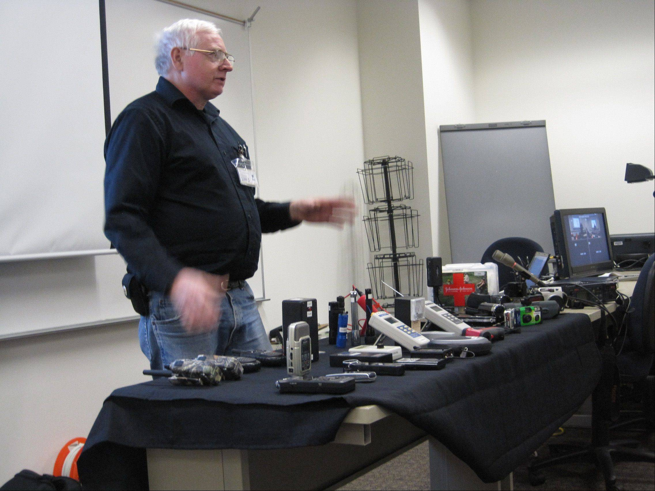Dennis Dobson, who with his wife, Judy, is a founding member of the Society for Anomalous Studies, talks about the audio and visual equipment that ghost hunters can use.