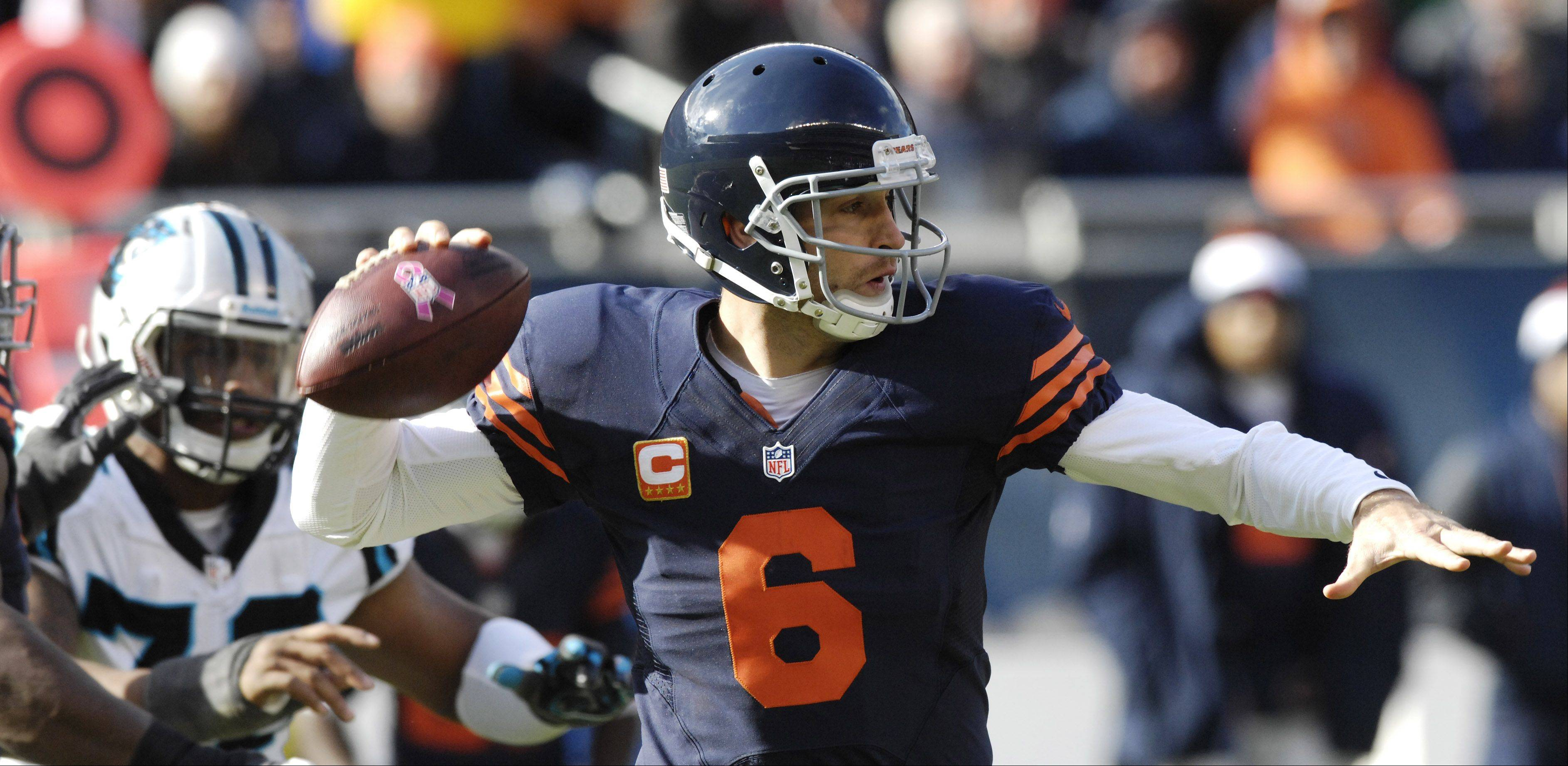 Bears quarterback Jay Cutler leads the NFL with a fourth-quarter passer rating of 132.0.