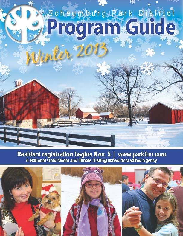 Schaumburg Park District Winter 2013 Program Guide.