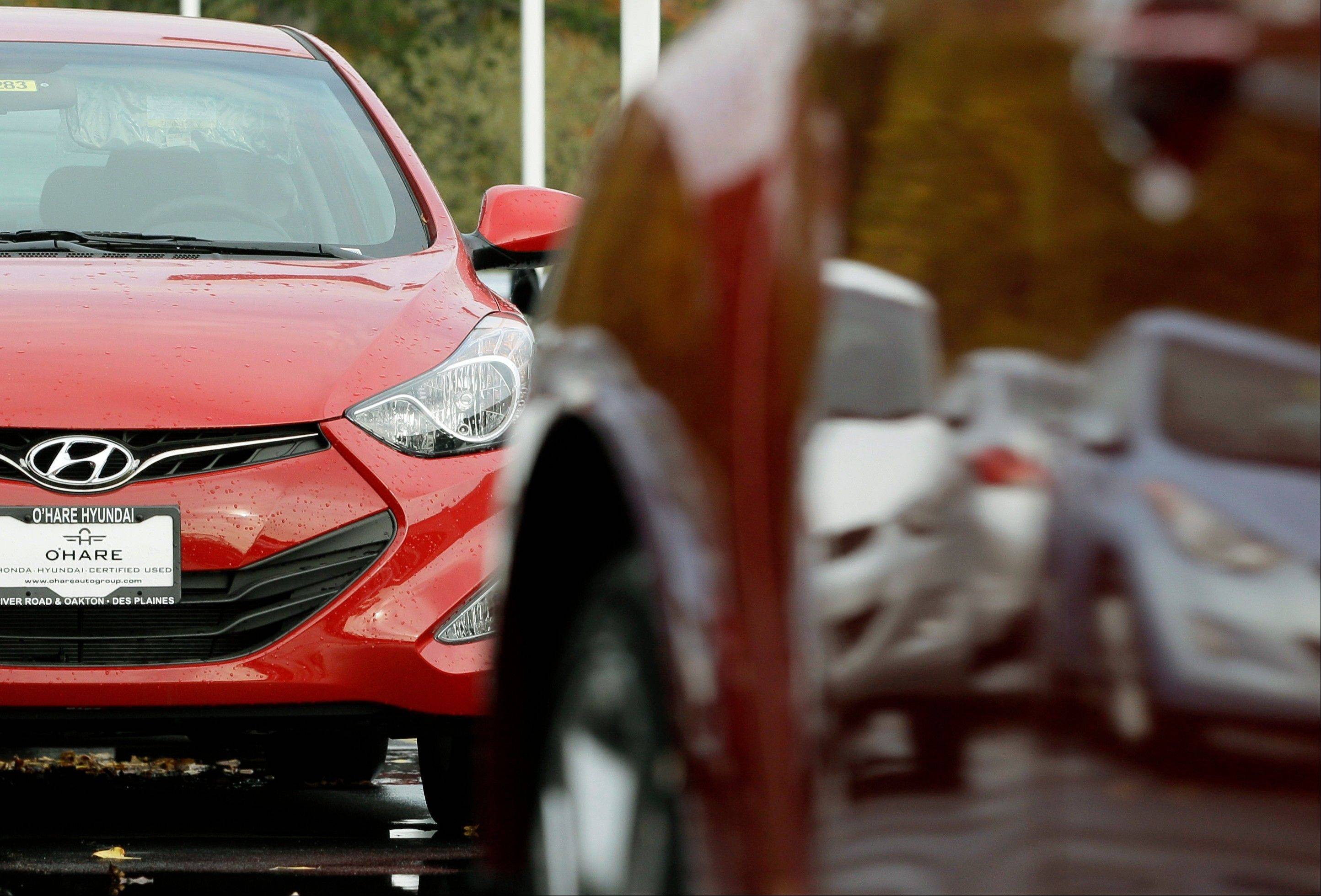 Major automakers are reporting Thursday, Nov. 1, 2012, that sales increased for October despite losing three days of business to the punishing rain and wind from superstorm Sandy.
