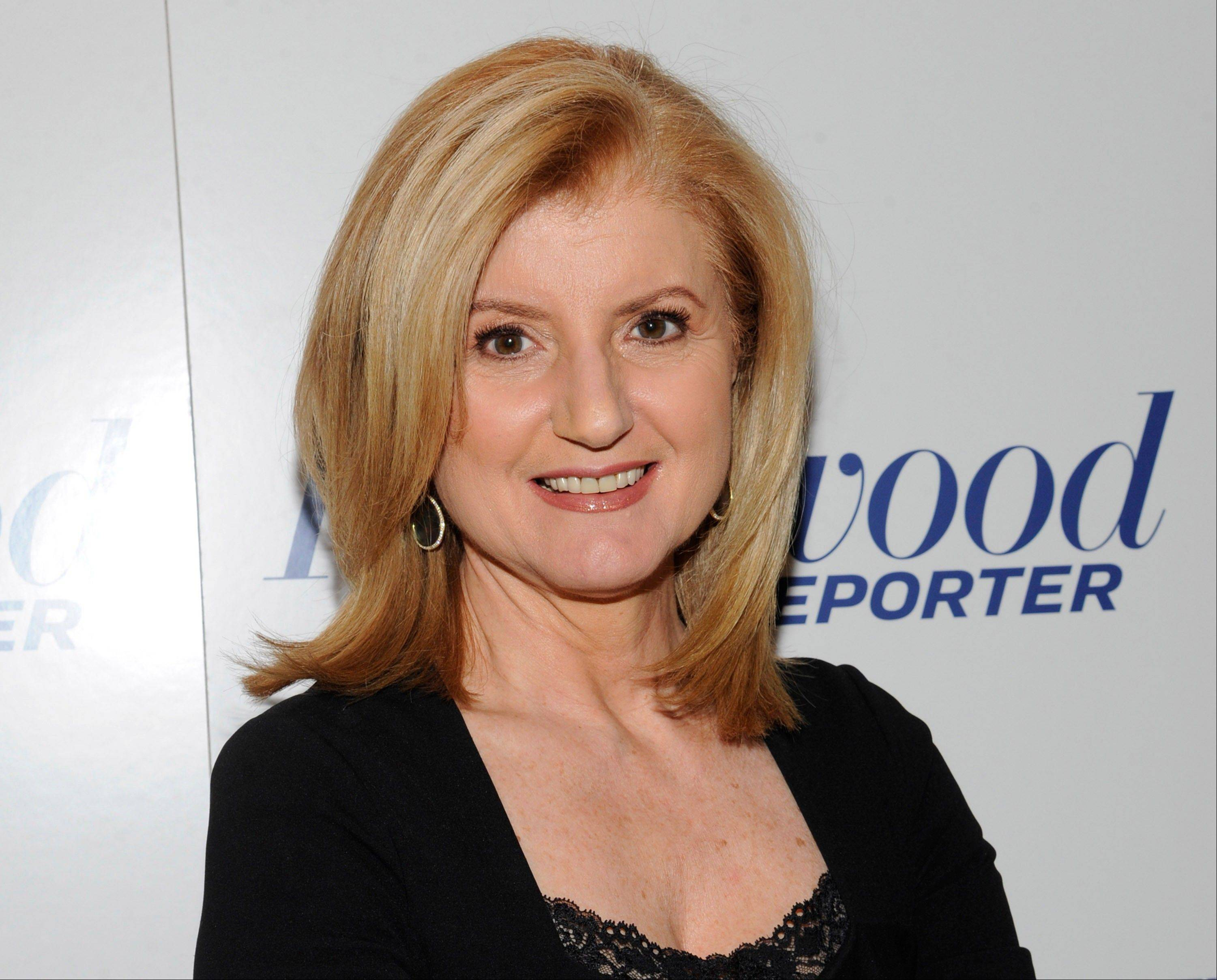 "Arianna Huffington, seen here, and Oprah Winfrey launched ""HuffPost OWN,"" a new section on the Huffington Post website Thursday."