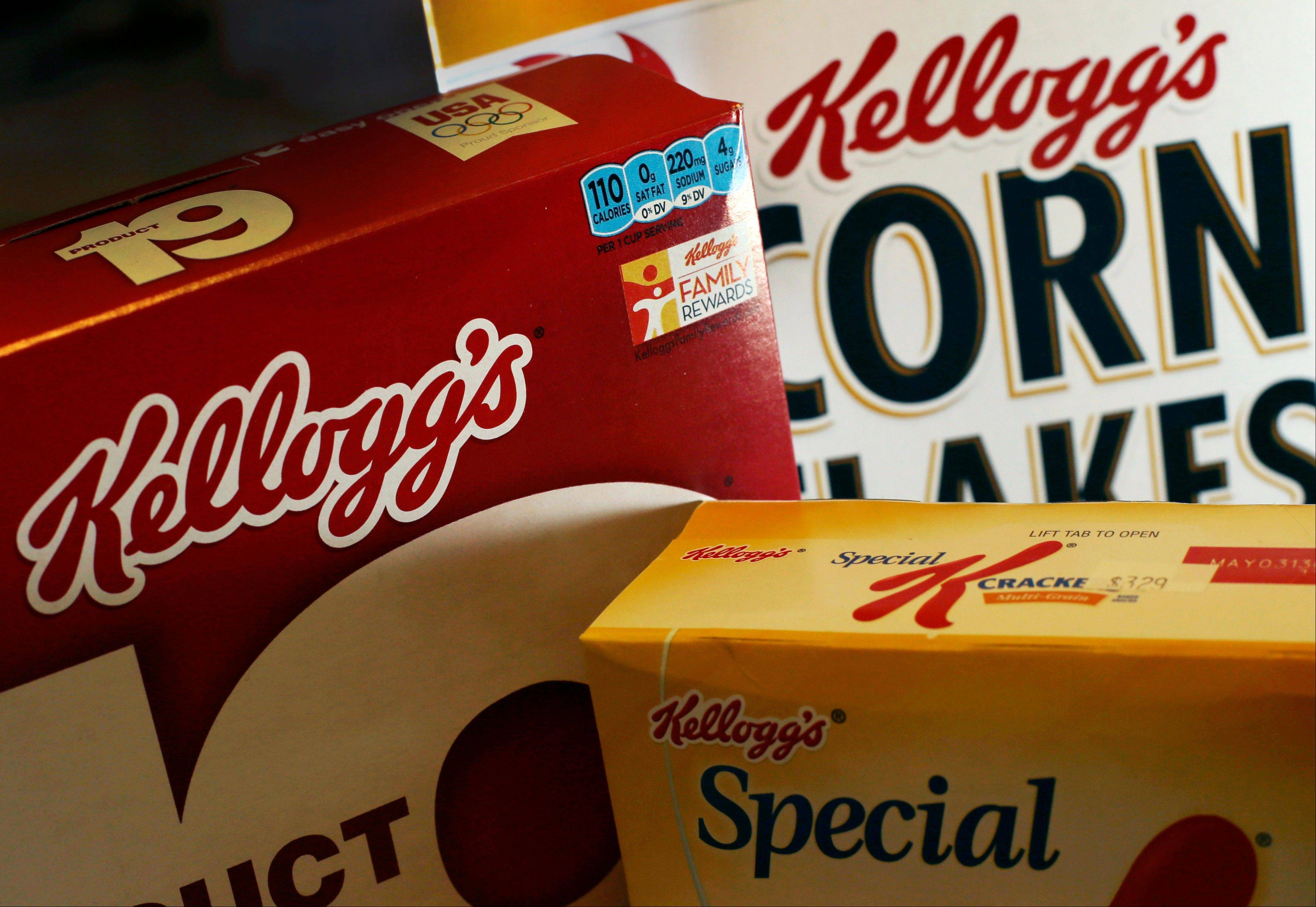 Kellogg's appetite for salty snacks is helping fatten its profits. The world's biggest cereal maker, best known for its Frosted Flakes, Pop-Tarts and Eggo waffles, says its recent acquisition of Pringles chips boosted its net income in the third quarter. Kellogg, based in Battle Creek, Mich., bought the brand earlier this year in hopes of becoming a global player in the salty snacks market.