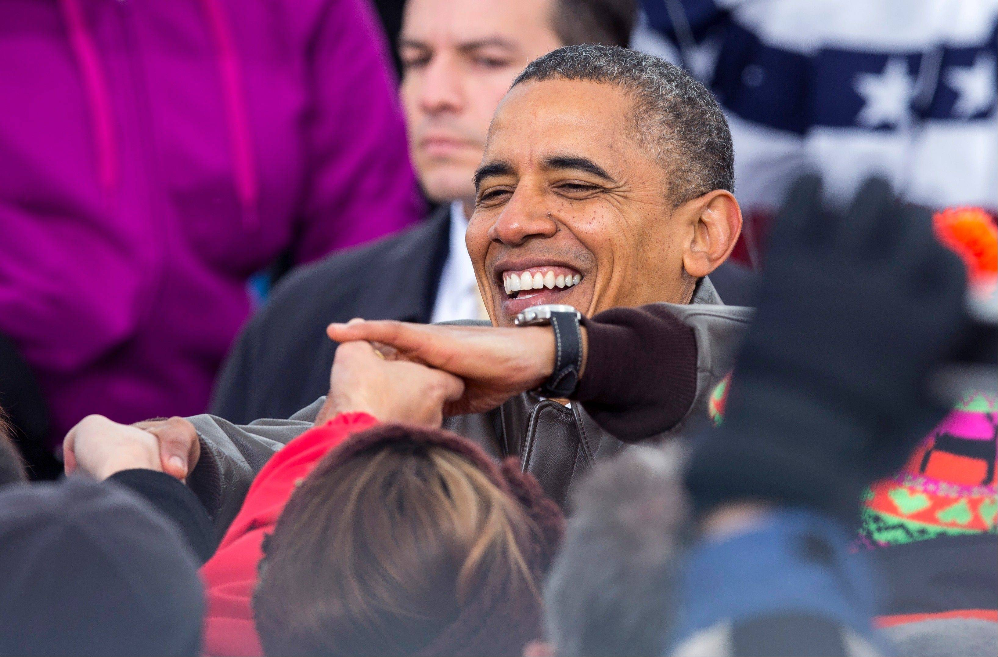 President Barack Obama campaigns in Green Bay, Wis.,Thursday.