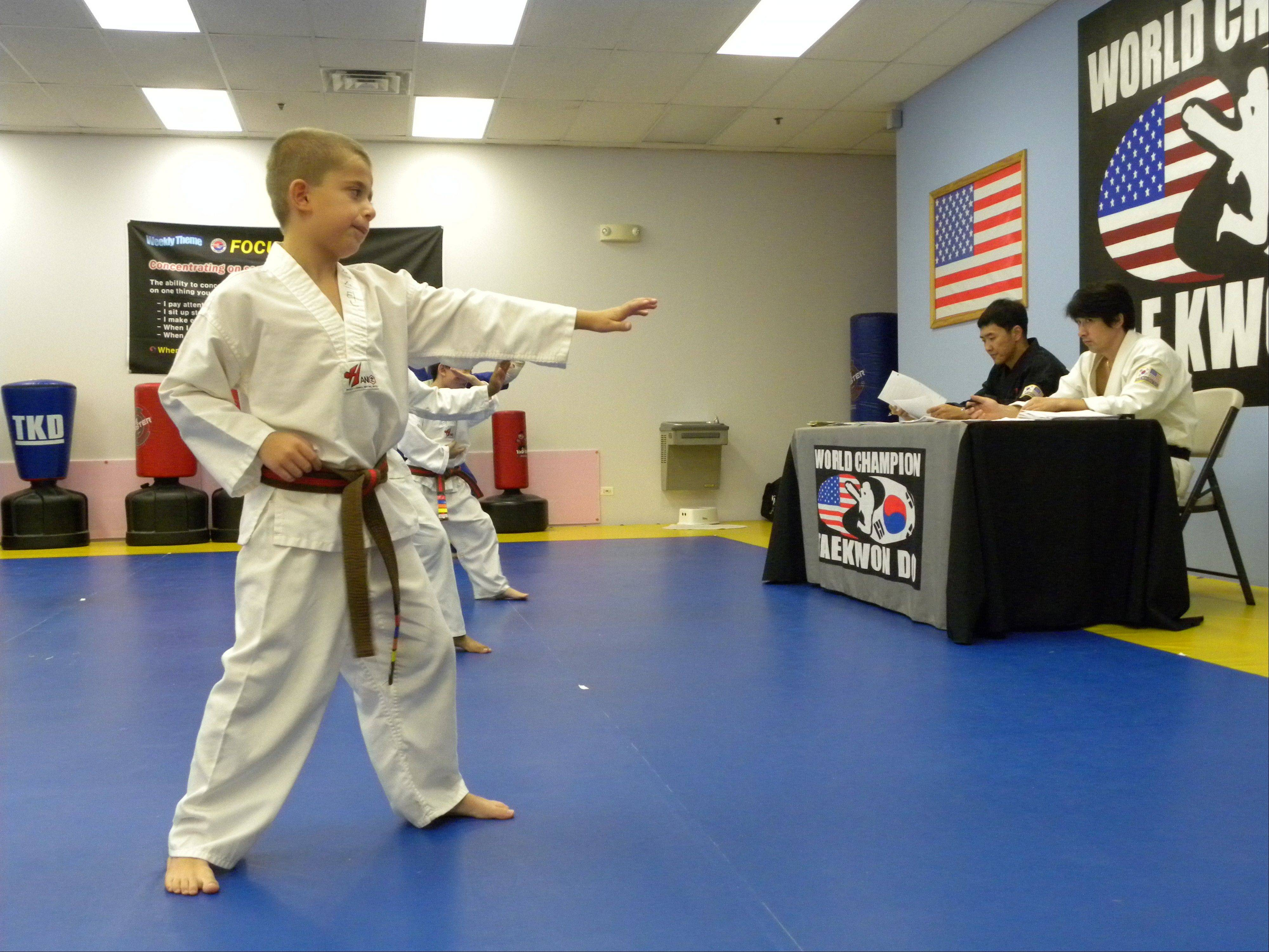 Justin Plackowska of Naperville quickly found success in tae kwon do, his instructor said. Justin was found murdered Tuesday night in Naperville along with a girl who lives nearby and who attended tae kwon do classes with Justin.