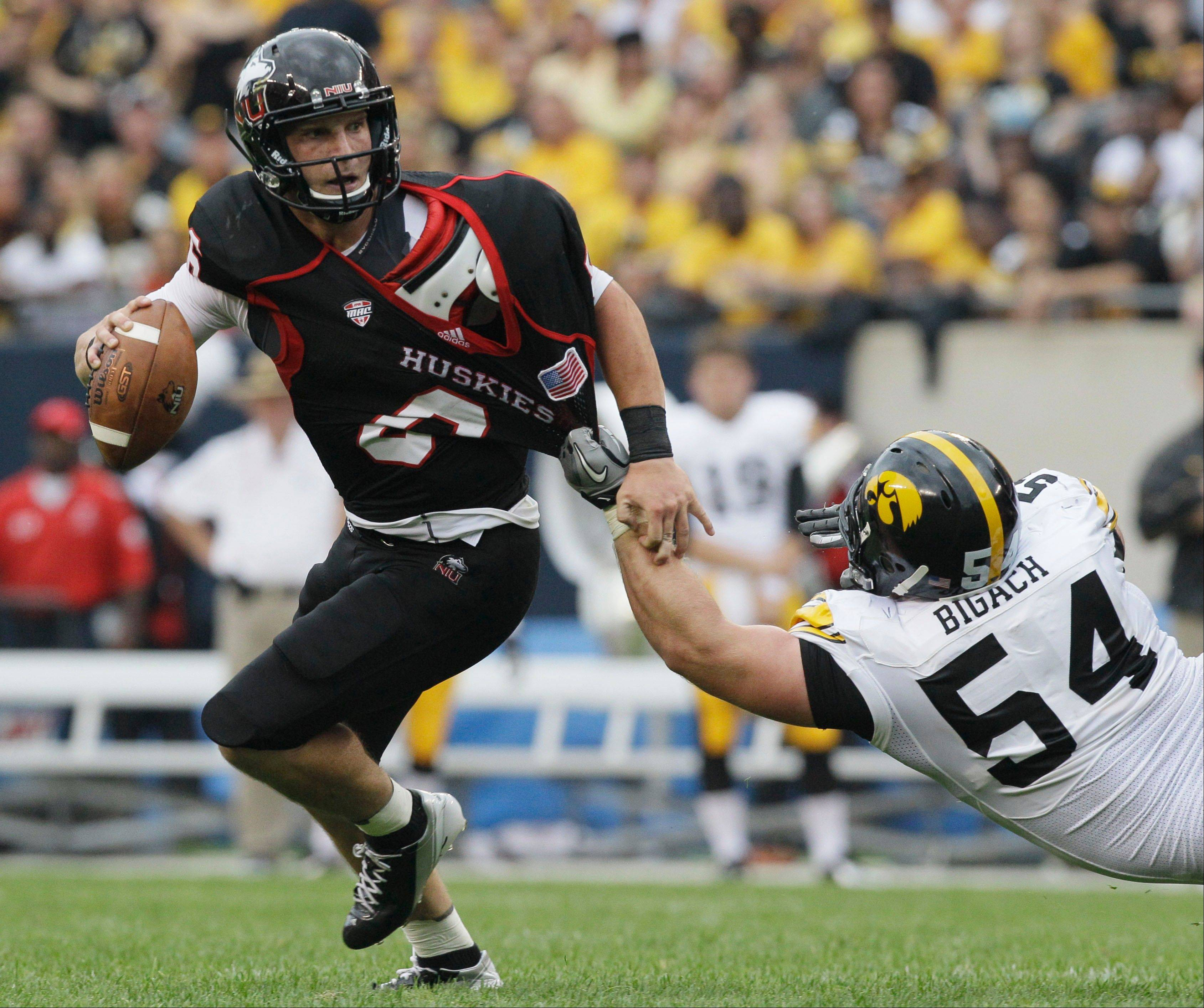 Northern Illinois quarterback Jordan Lynch, who nearly upset the Iowa Hawkeyes at Soldier Field to open the season, has run for 15 touchdowns and thrown for 17 TDs this season.