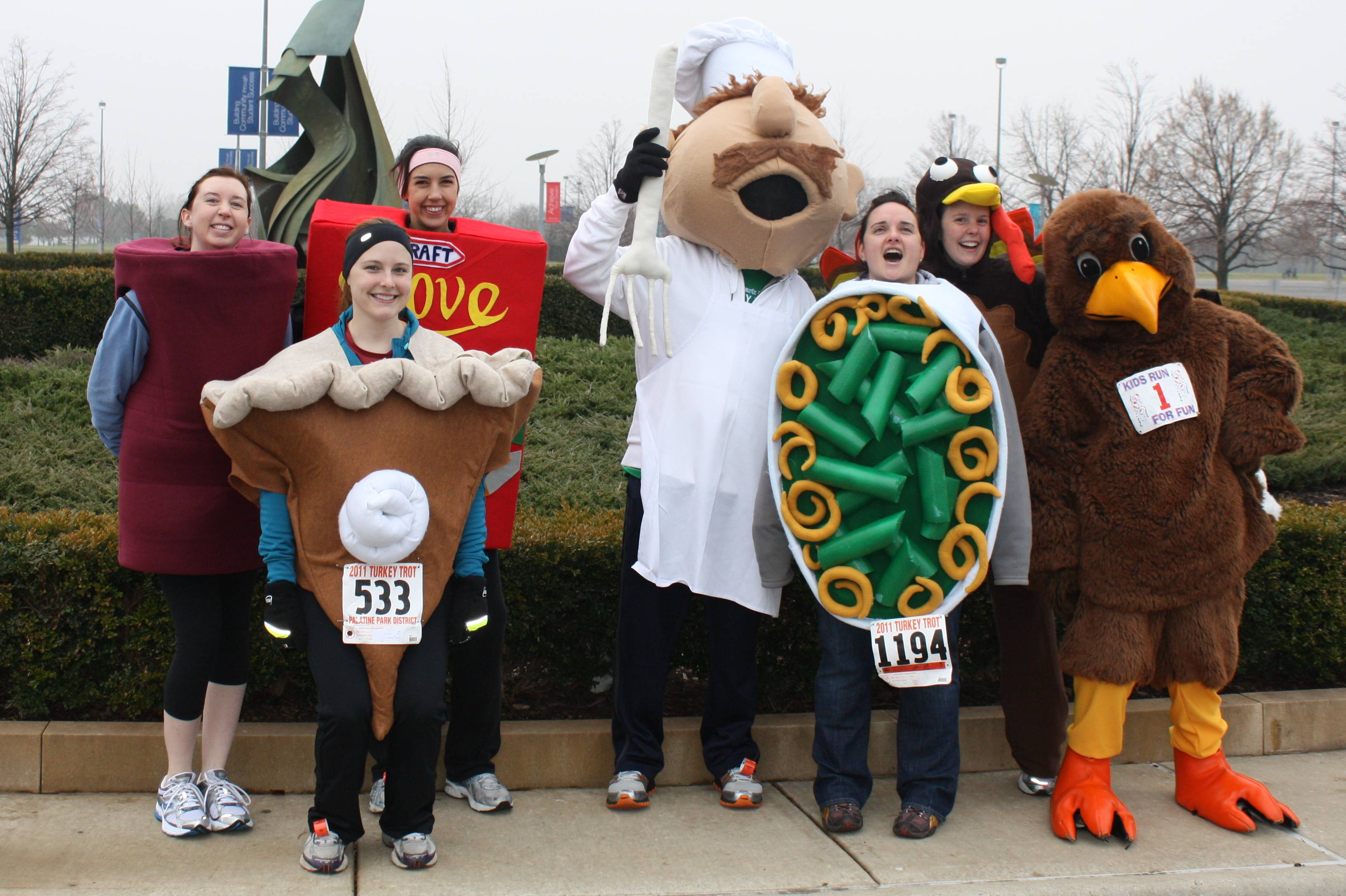 The entire turkey dinner participated in the 2011 race.