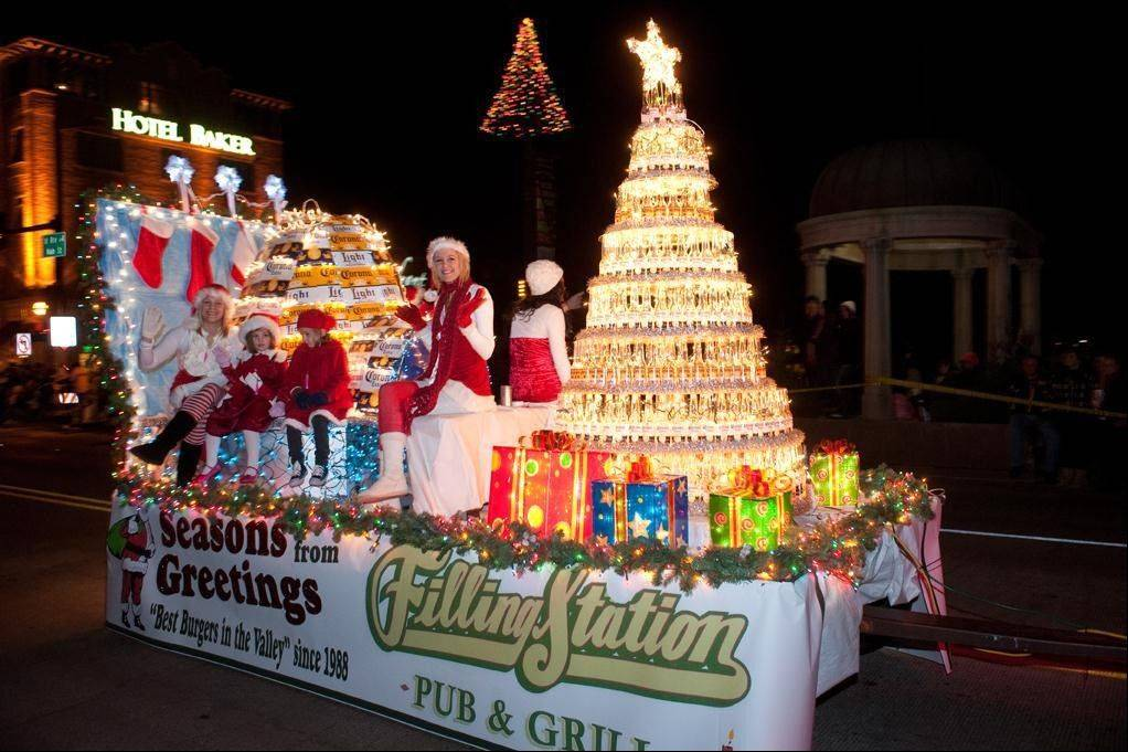 Monday is the deadline to enter the annual Electric Christmas Parade, scheduled for Nov. 24. Pictured is the 2011 first-place Business Entry winner, The Filling Station.