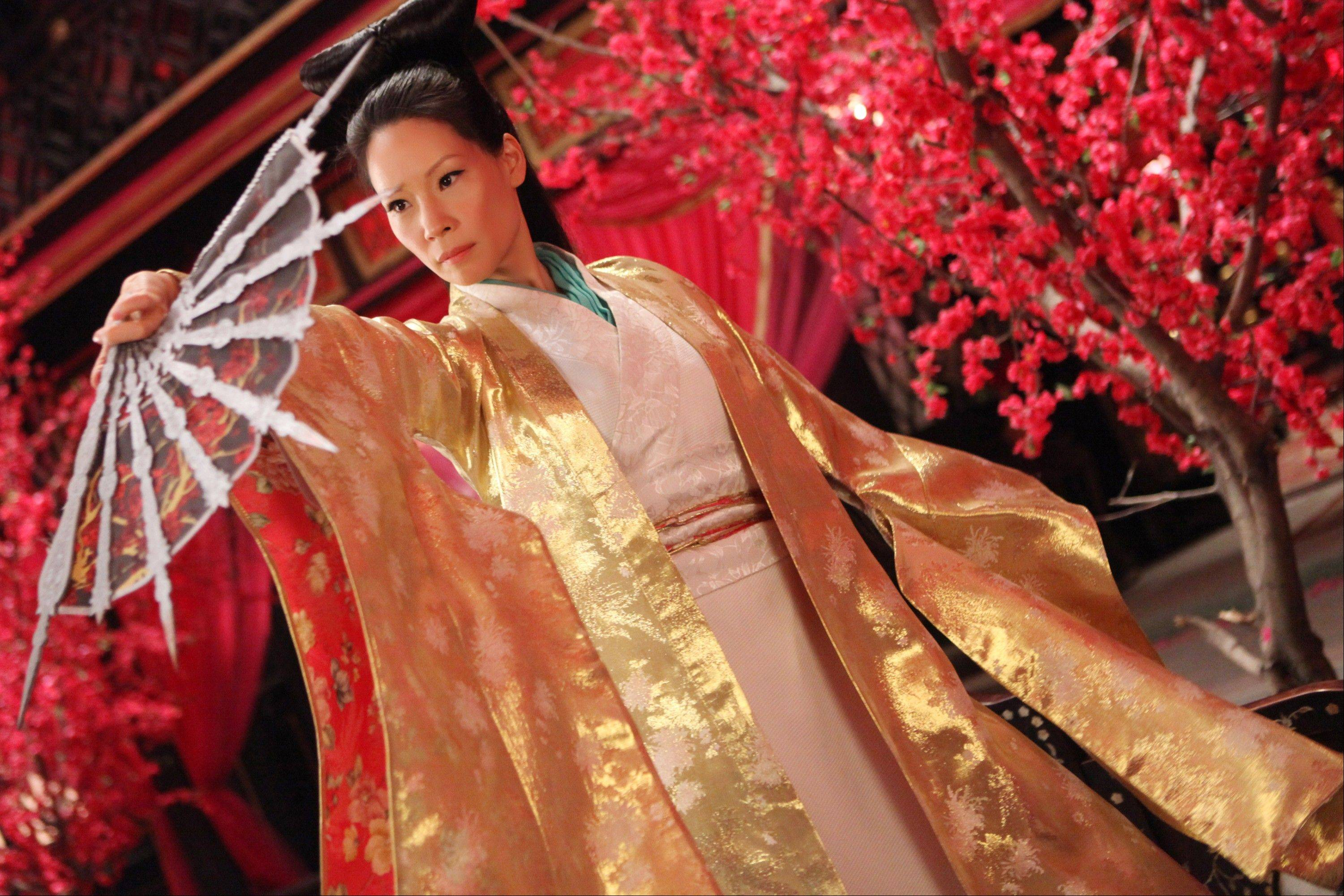 "Lucy Liu stars as a madame in a village rocked by violence in ""The Man With the Iron Fists."""