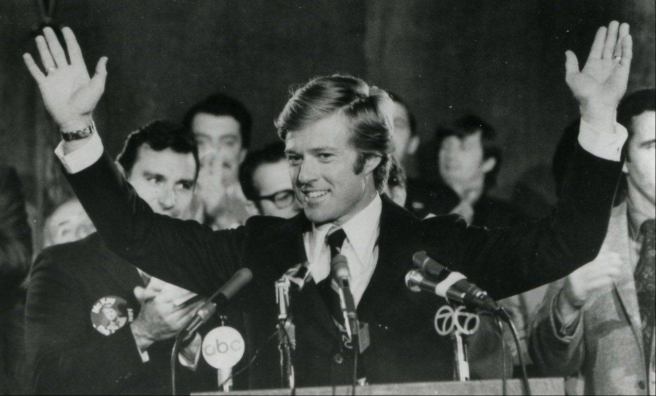 "A governor's son (Robert Redford) runs for the senate against an unbeatable incumbent in ""The Candidate."""