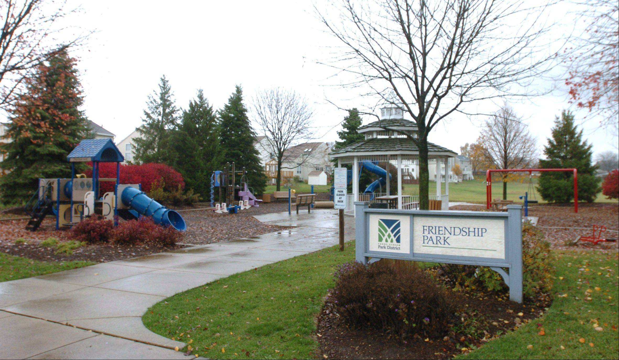 Friendship Park is located in the Renaissance neighborhood in Carol Stream.